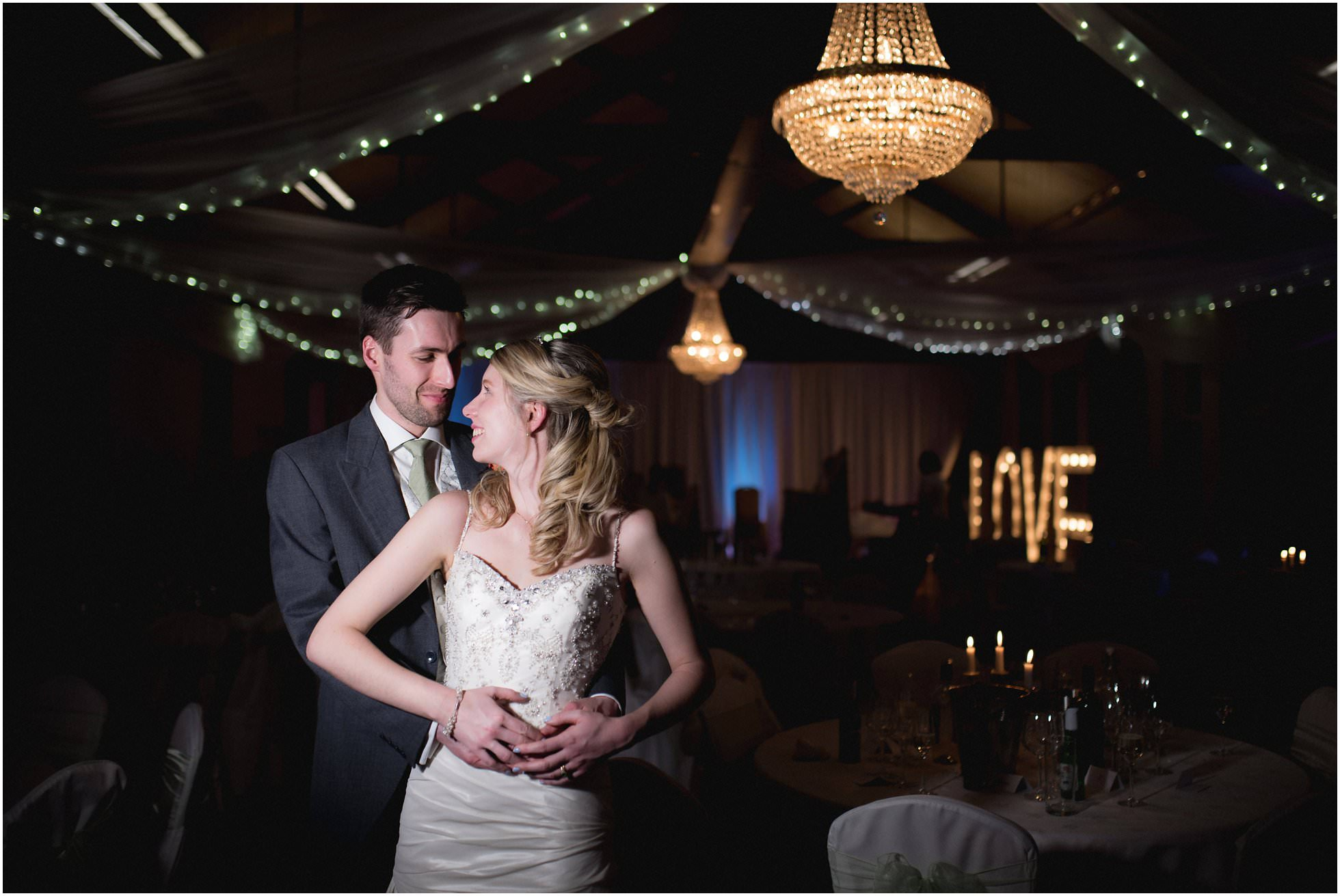Brooksby Hall Wedding Photographer shot of gorgeous couple in the main hall