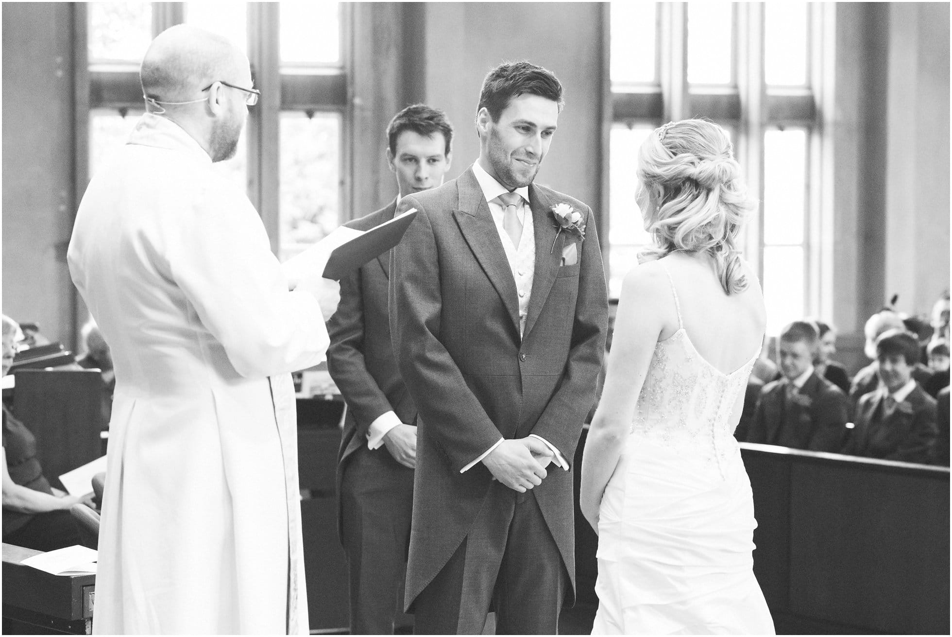 The grooms first look at a Birstall Church wedding