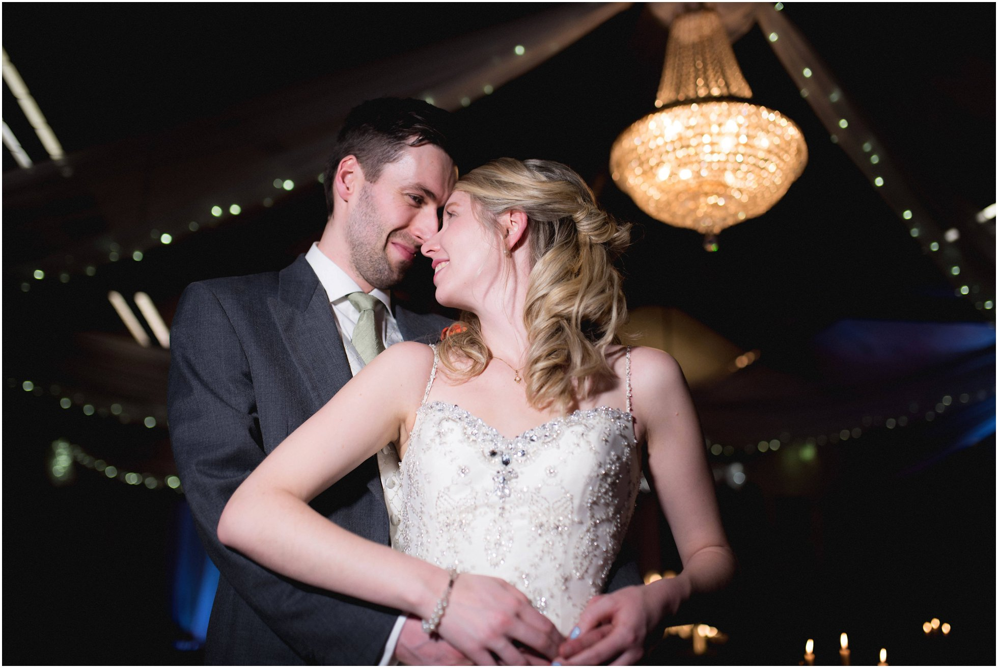 Video light portrait shot at a Leicestershire wedding
