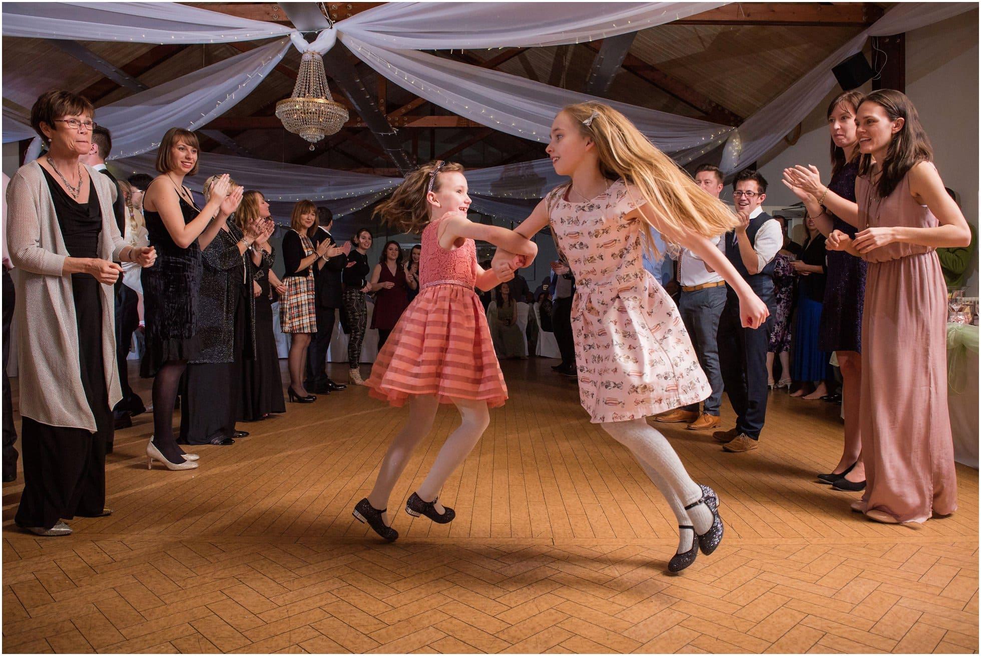 Girls spinning on the dancefloor