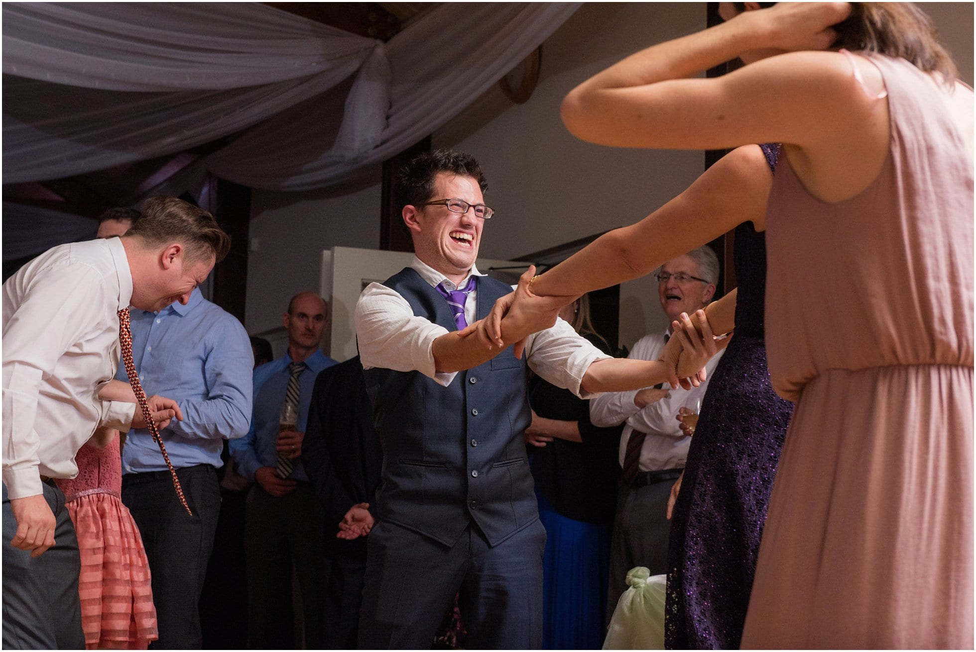 Guest really enjoying the wedding reception