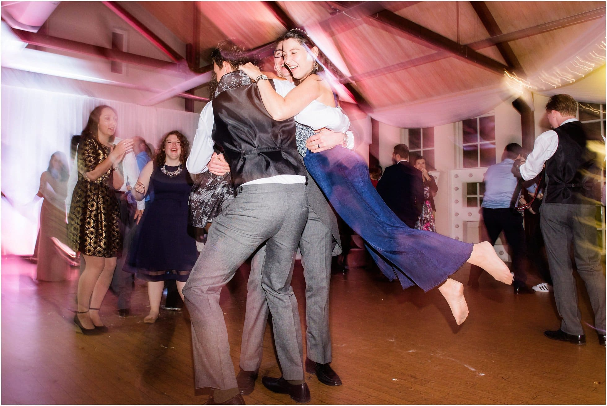 A wedding reception to remember! Spinning the guests!