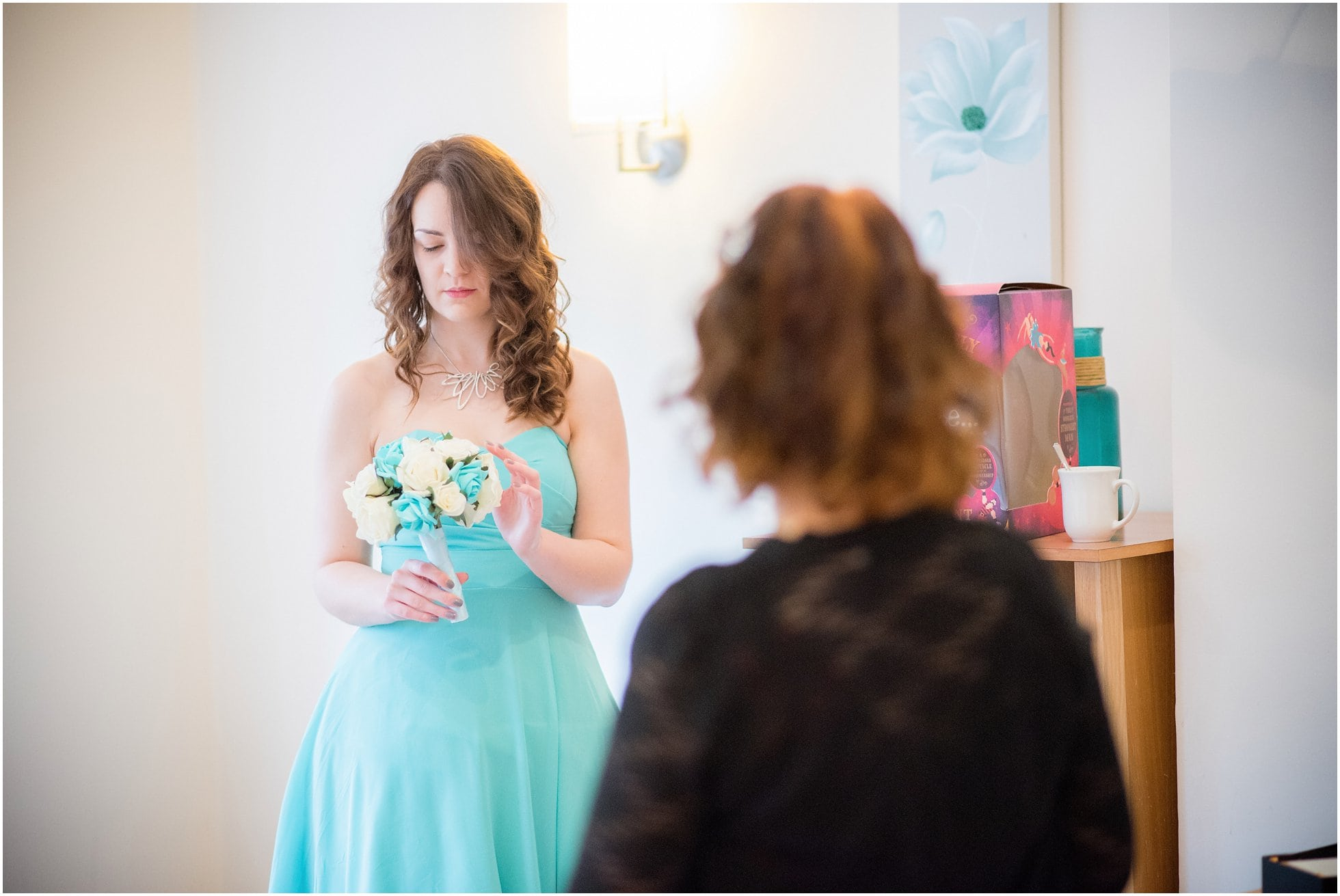 Bridesmaid and her flowers