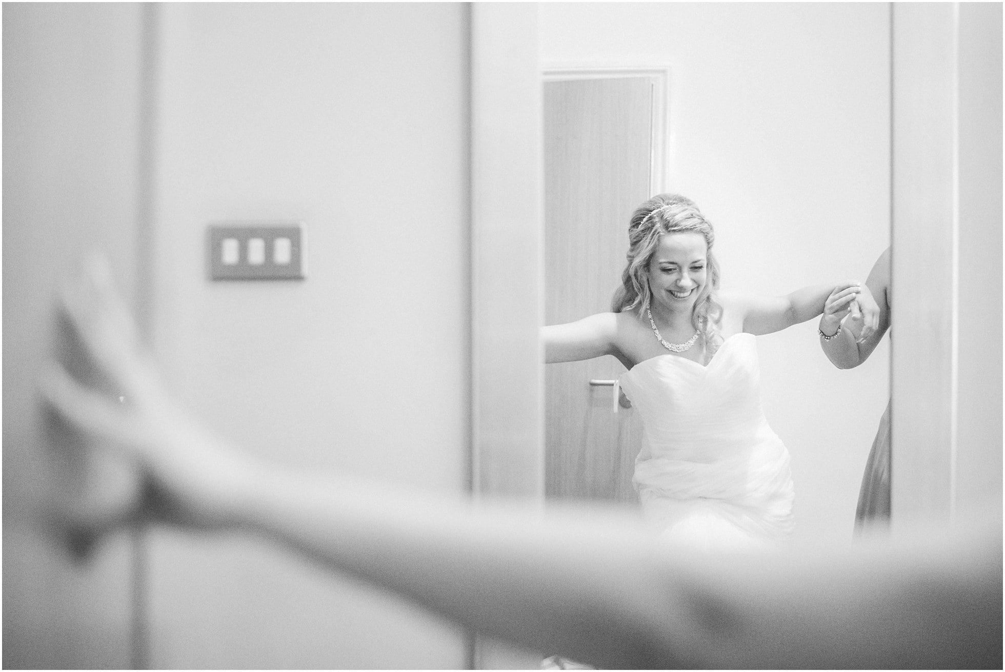 The bride getting ready at Ponsbourne Park Hotel