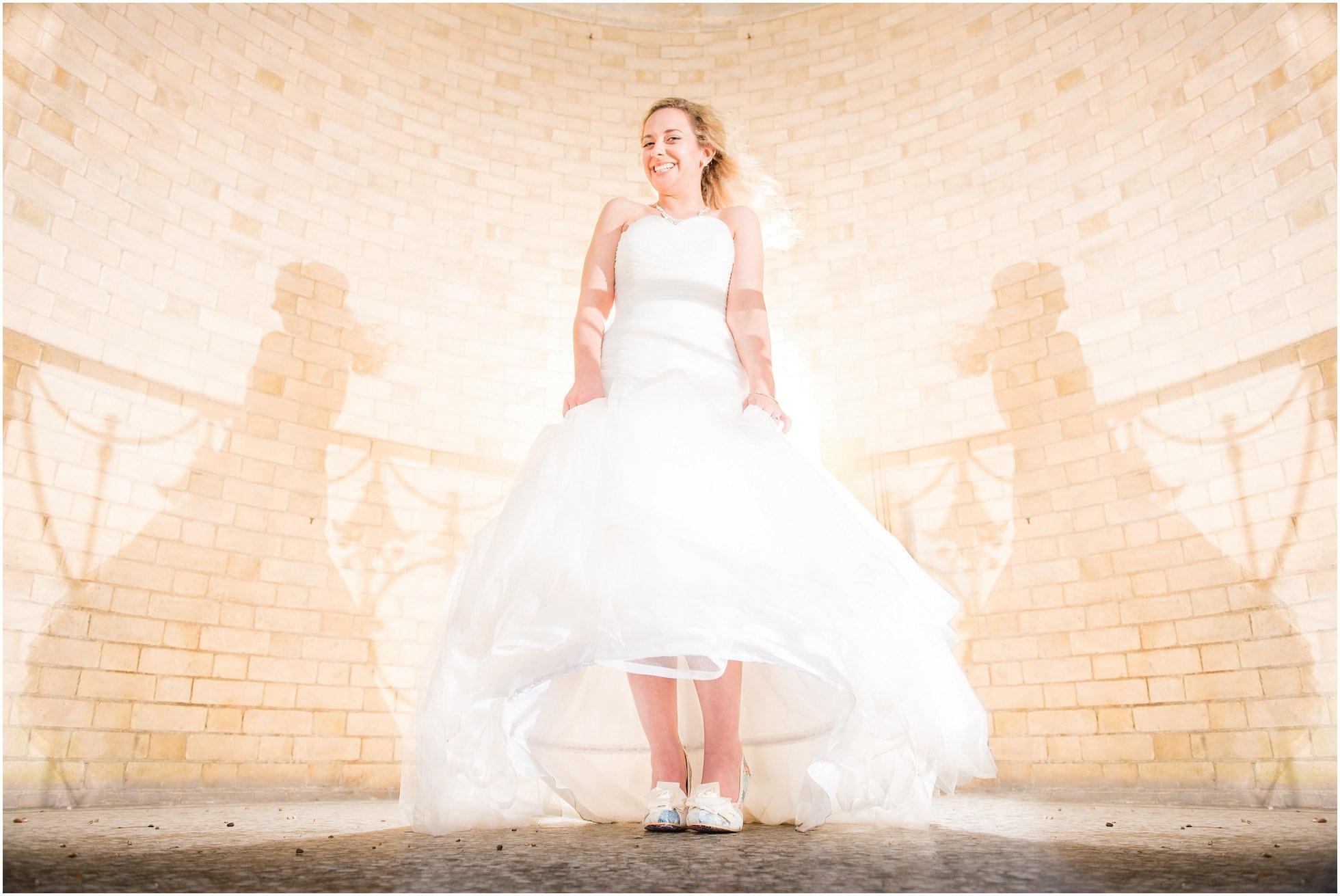 The bride having fun!