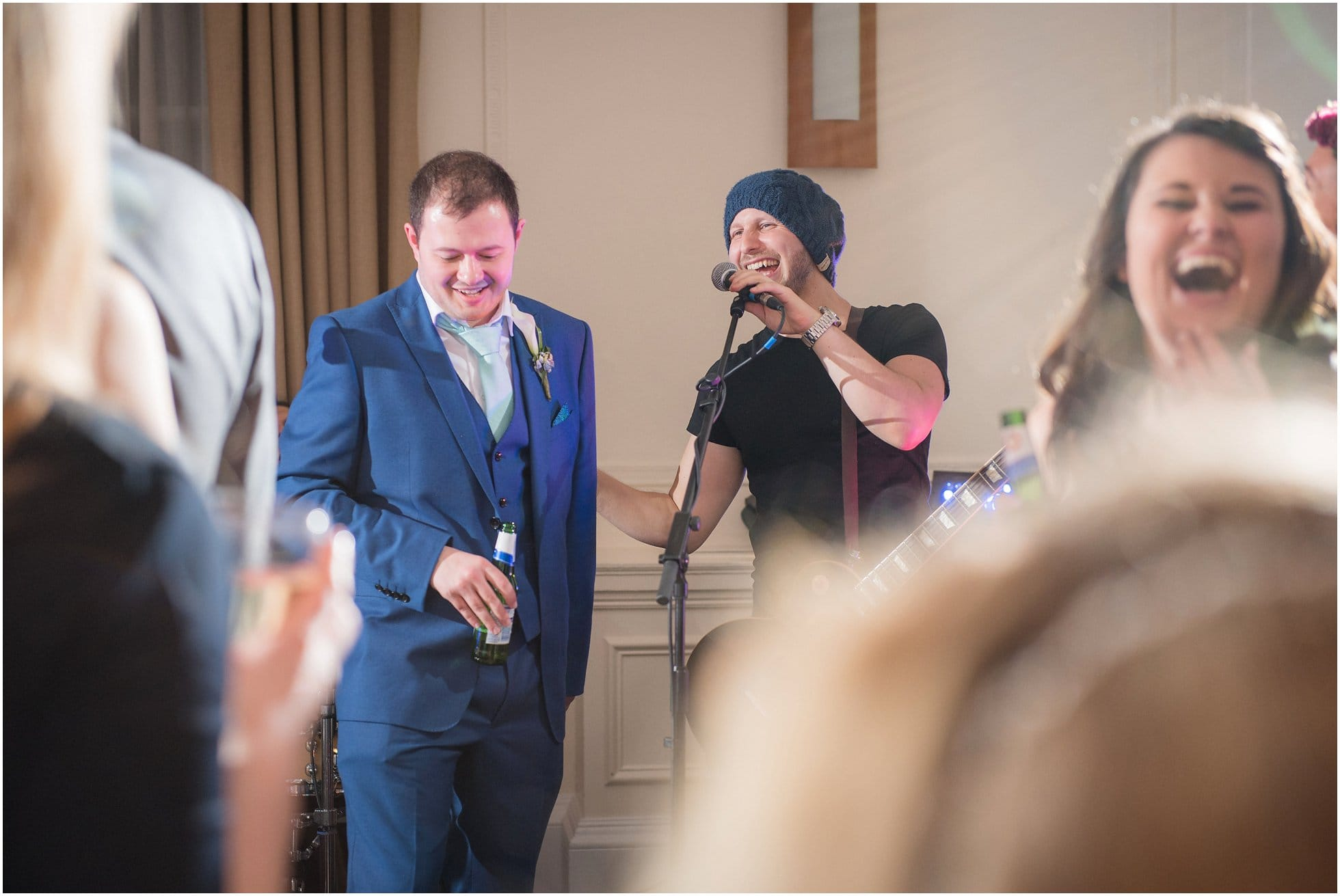The groom being asked to do something he really doesn't want to do!