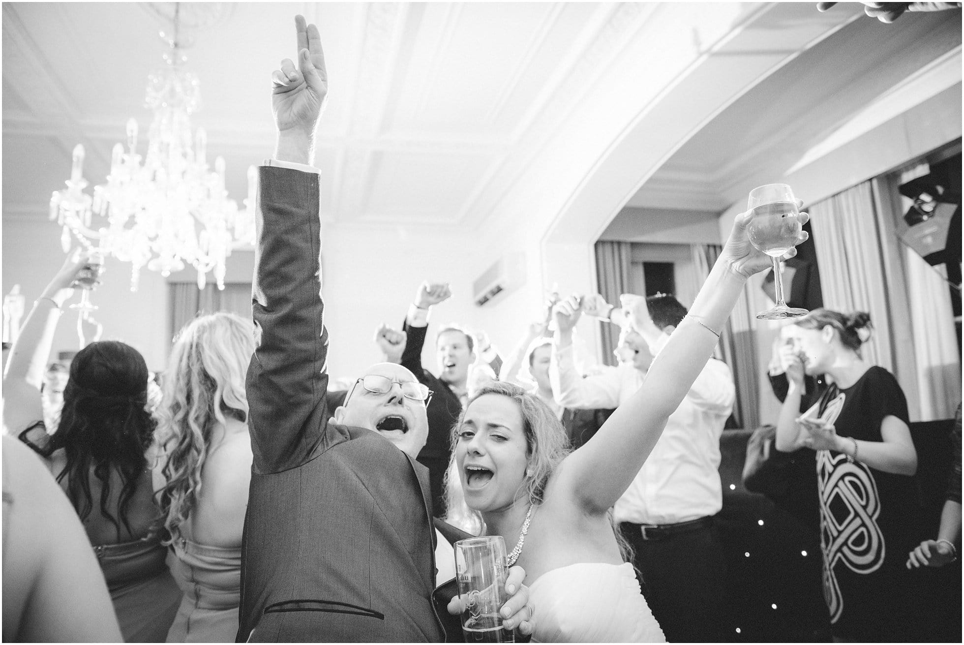 the bride and her father having a moment on the dancefloor at Ponsbourne Park Hotel