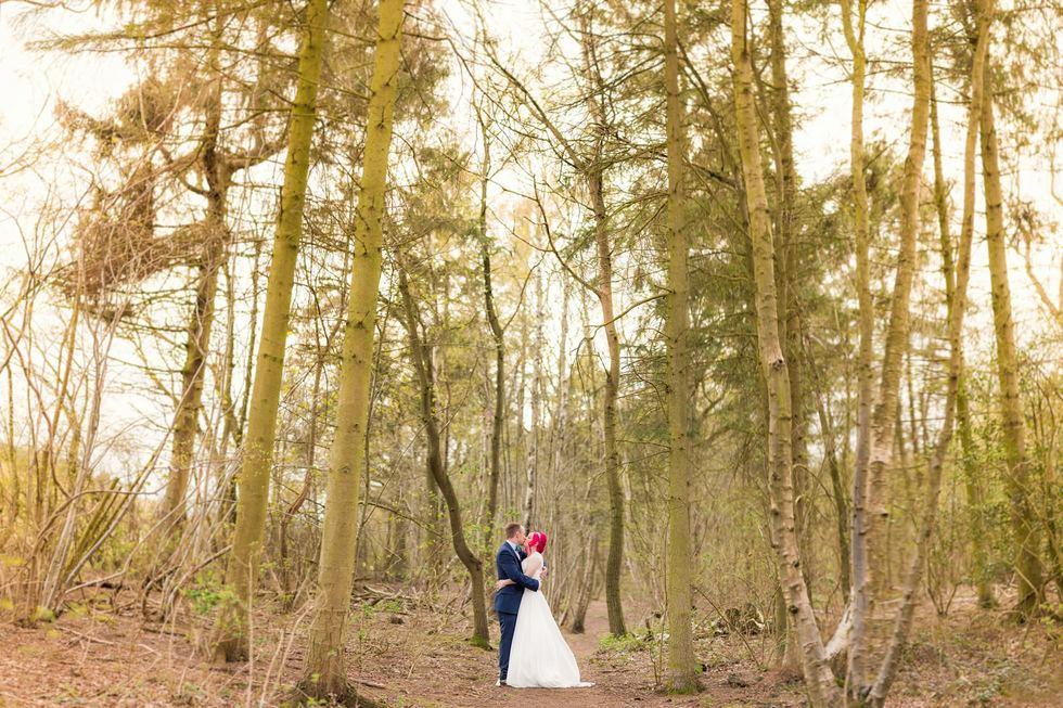 Creative York wedding Photography shot using Brenizer Method