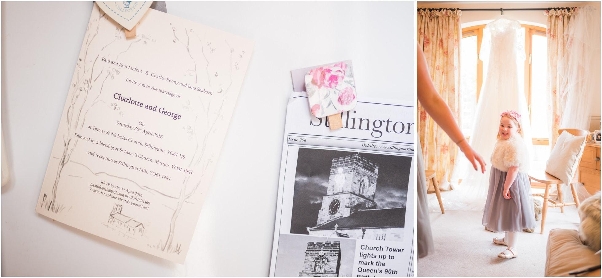 Stillington Wedding invite