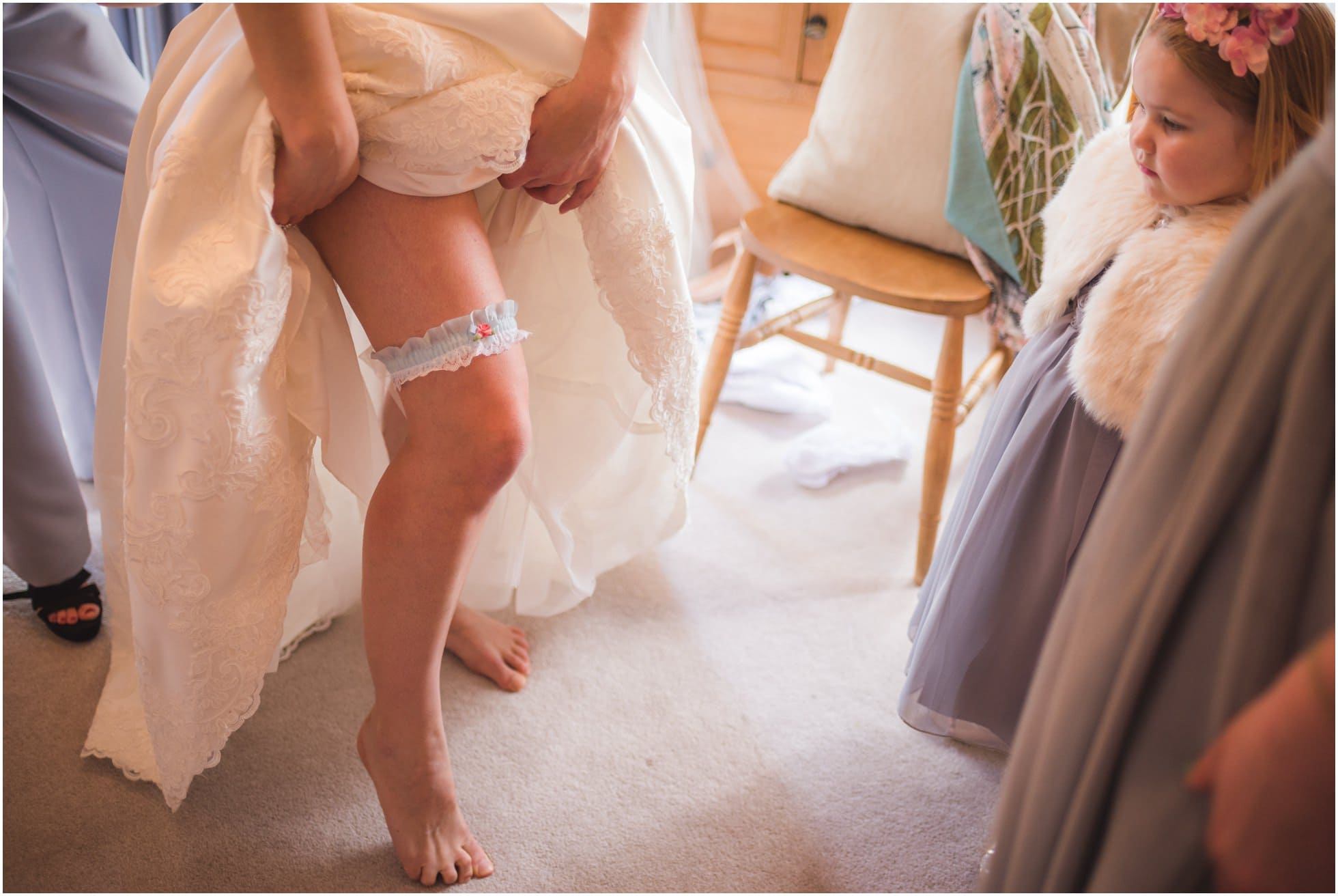 The garter, for his (and your) eyes only