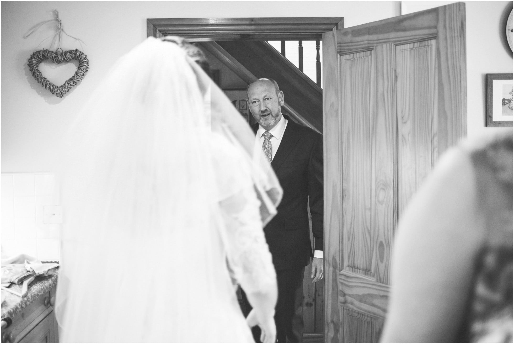 First look of father and daughter at Stillington Wedding