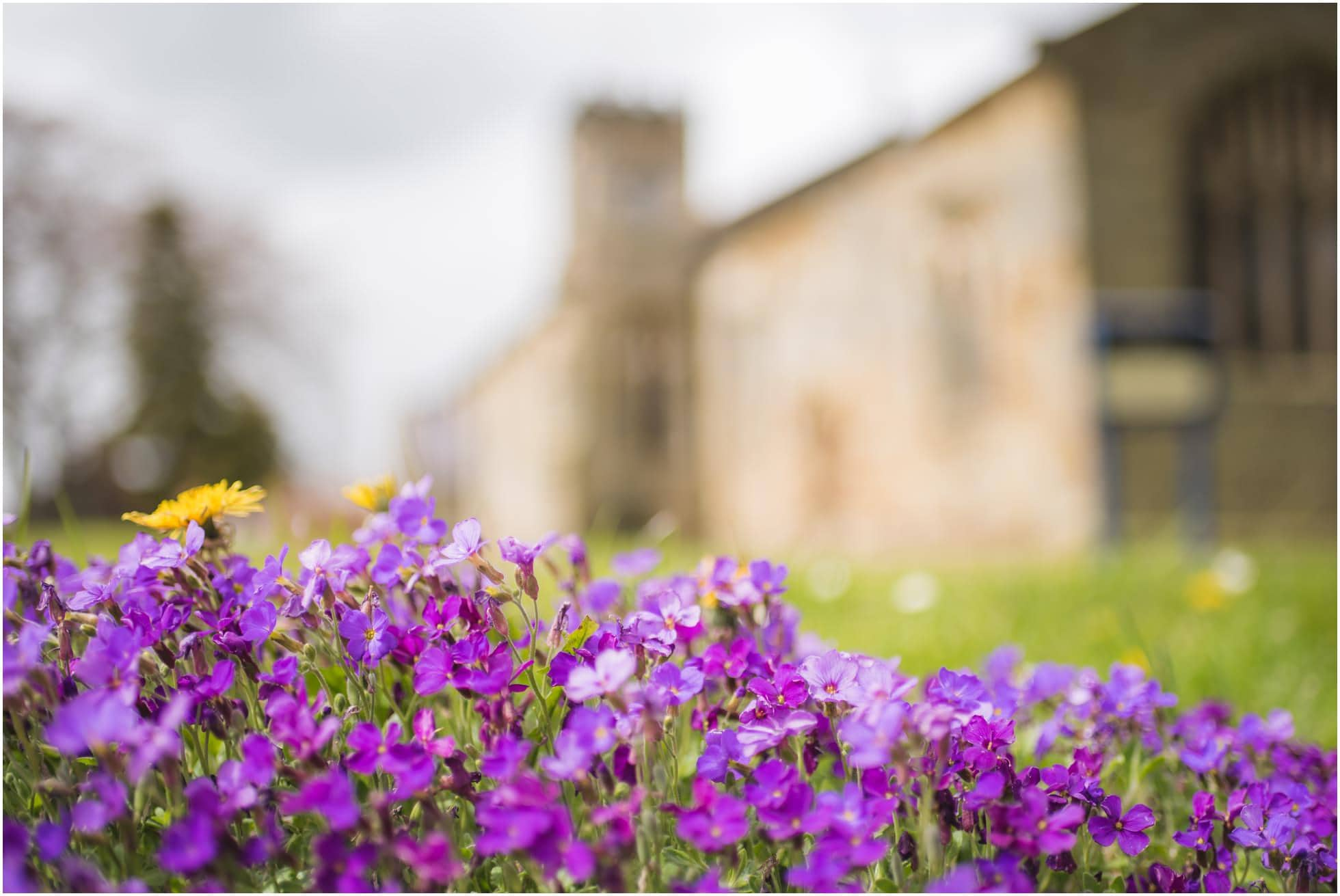 Flowers outside St Nicholas church