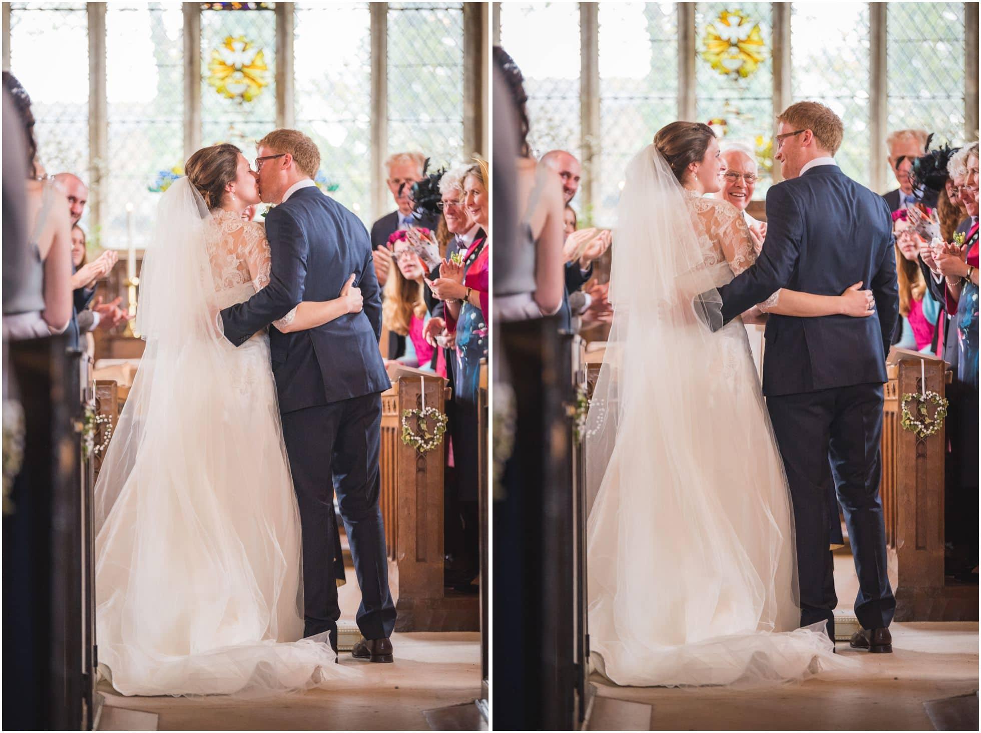 The first kiss in St Nicholas Church Stillington