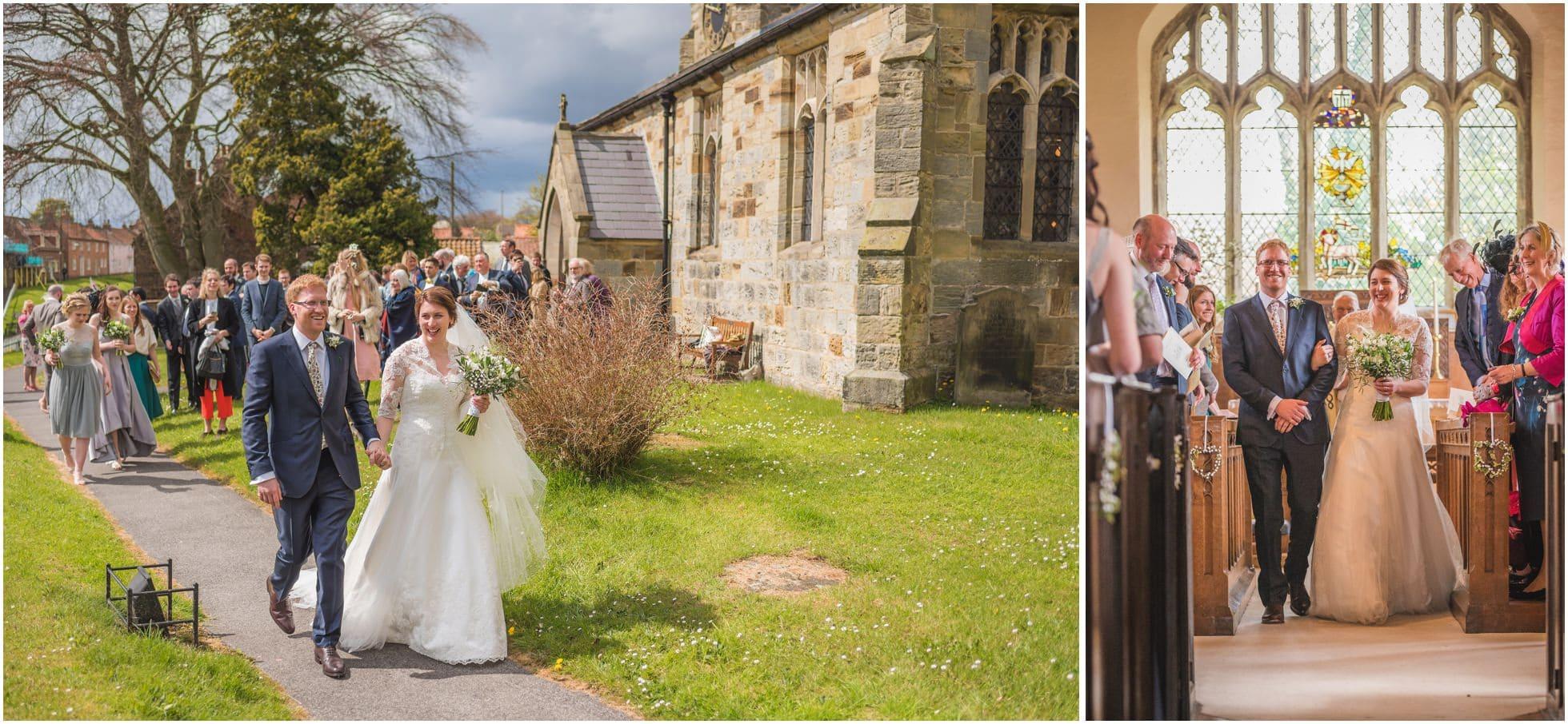 St Nicholas Church Stillington Wedding Photography