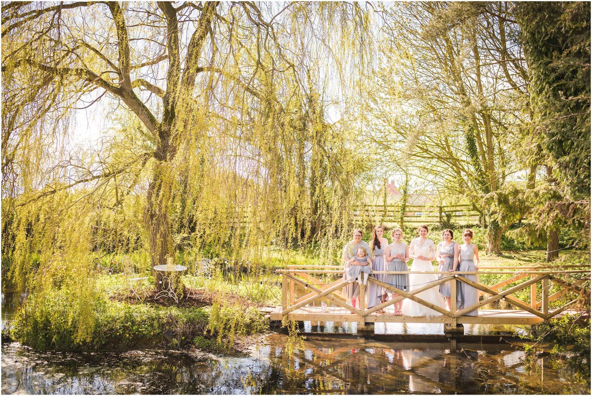 Bridesmaids on the Mill wedding venue York bridge