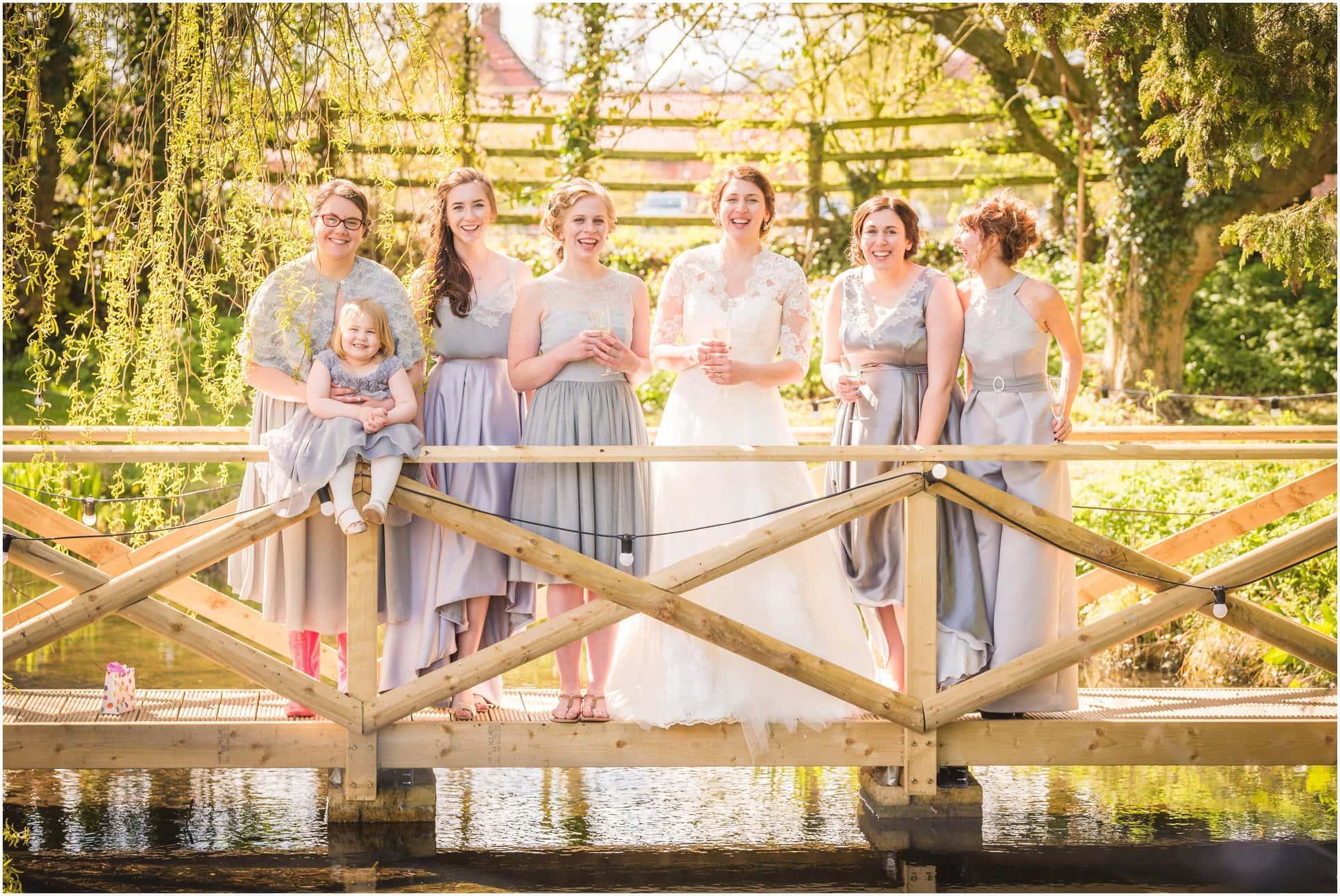 Bridesmaids on the Mill Bridge