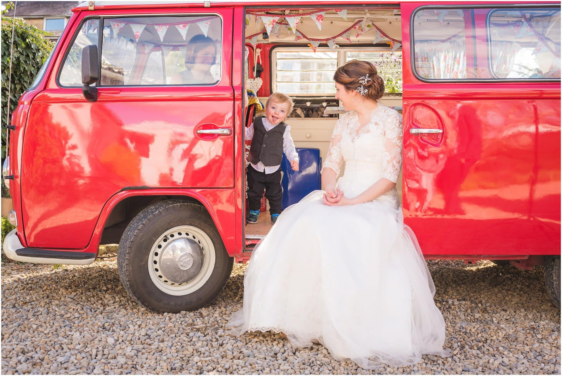 VW campervan and a cheeky chappy!