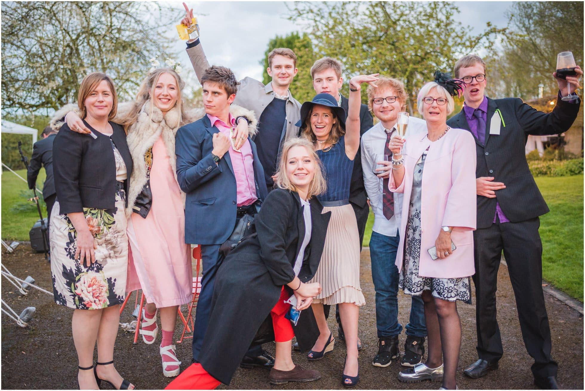 Ed Sheeran with his girlfriend and her relatives enjoying an amazing York wedding