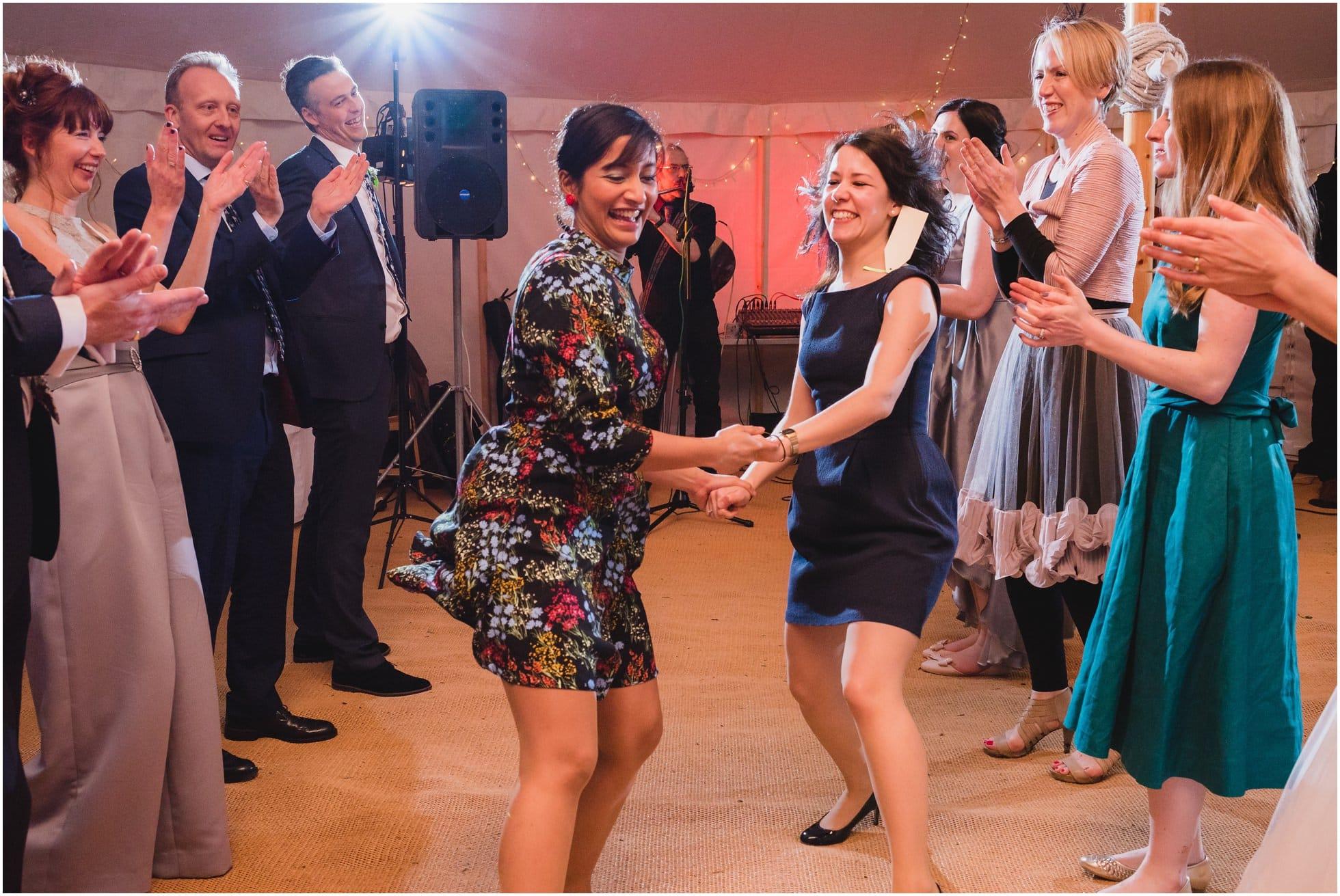 Girls ceilidh dancing like pros