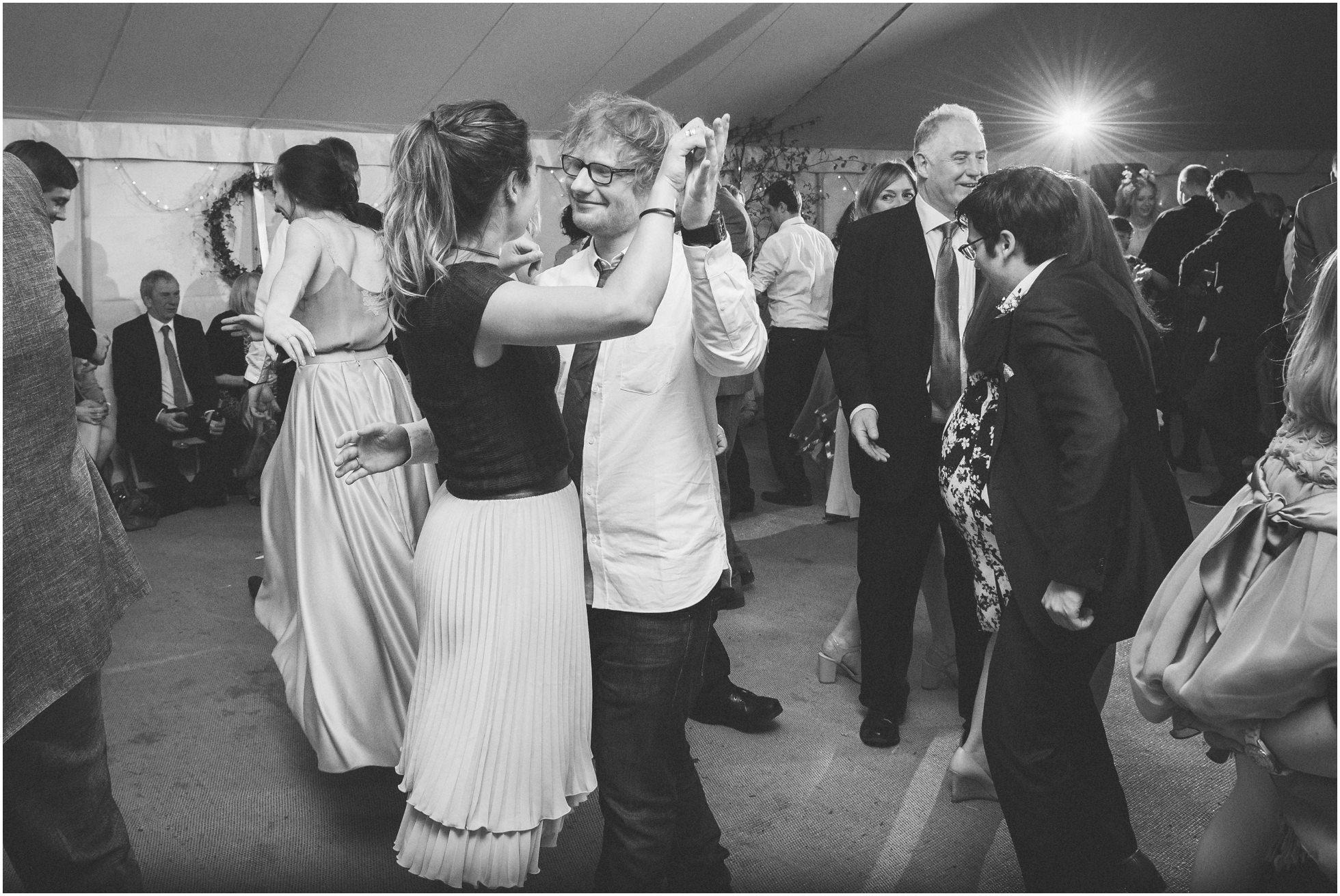 Ed Sheeran and his girlfriend dancing the night away at a York Wedding Photographer's dream wedding