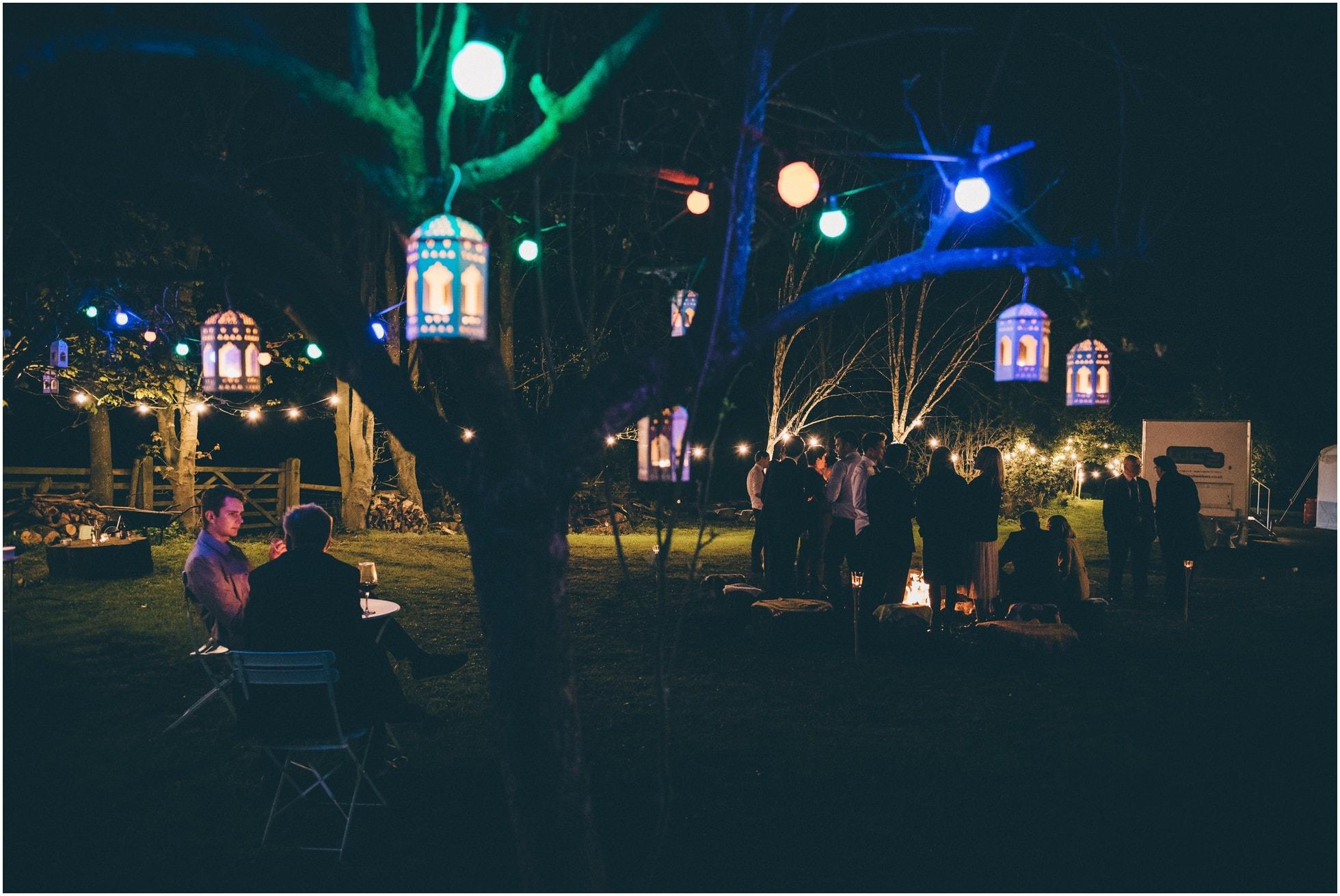 Pretty lanterns at this gorgeous York wedding