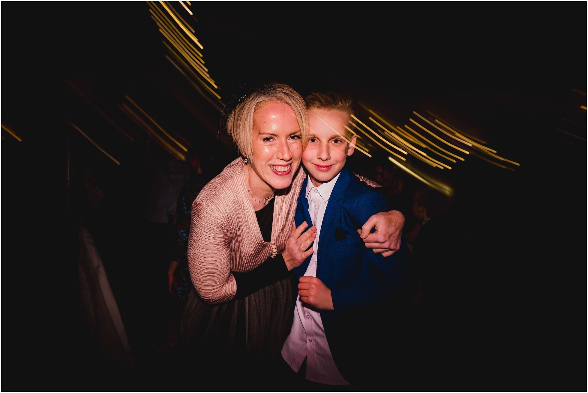 Mum and son on the dancefloor