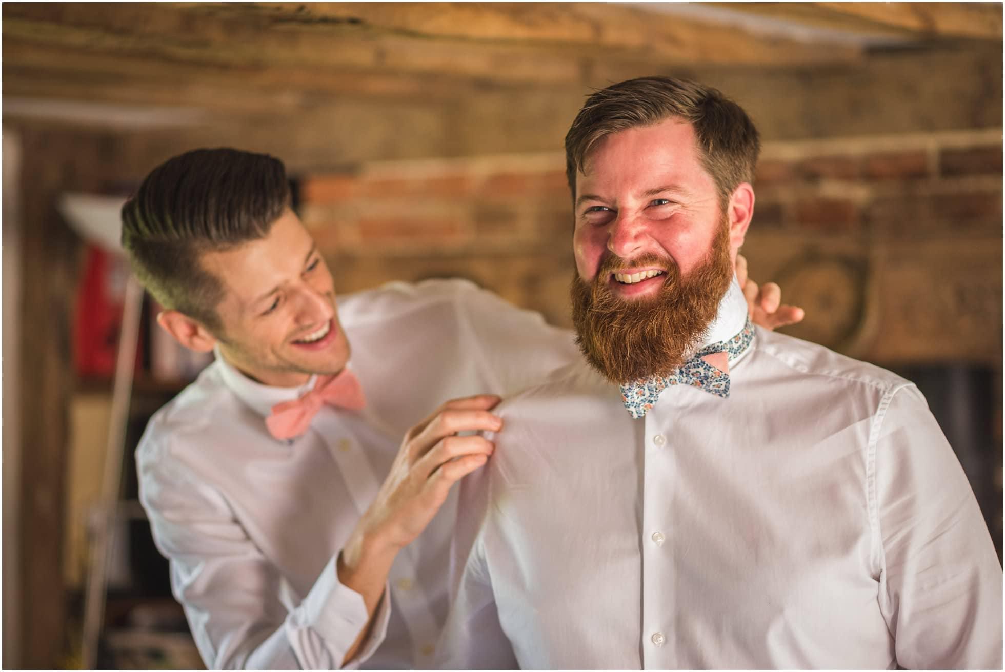 wedding bowties - the boys getting ready casual shots