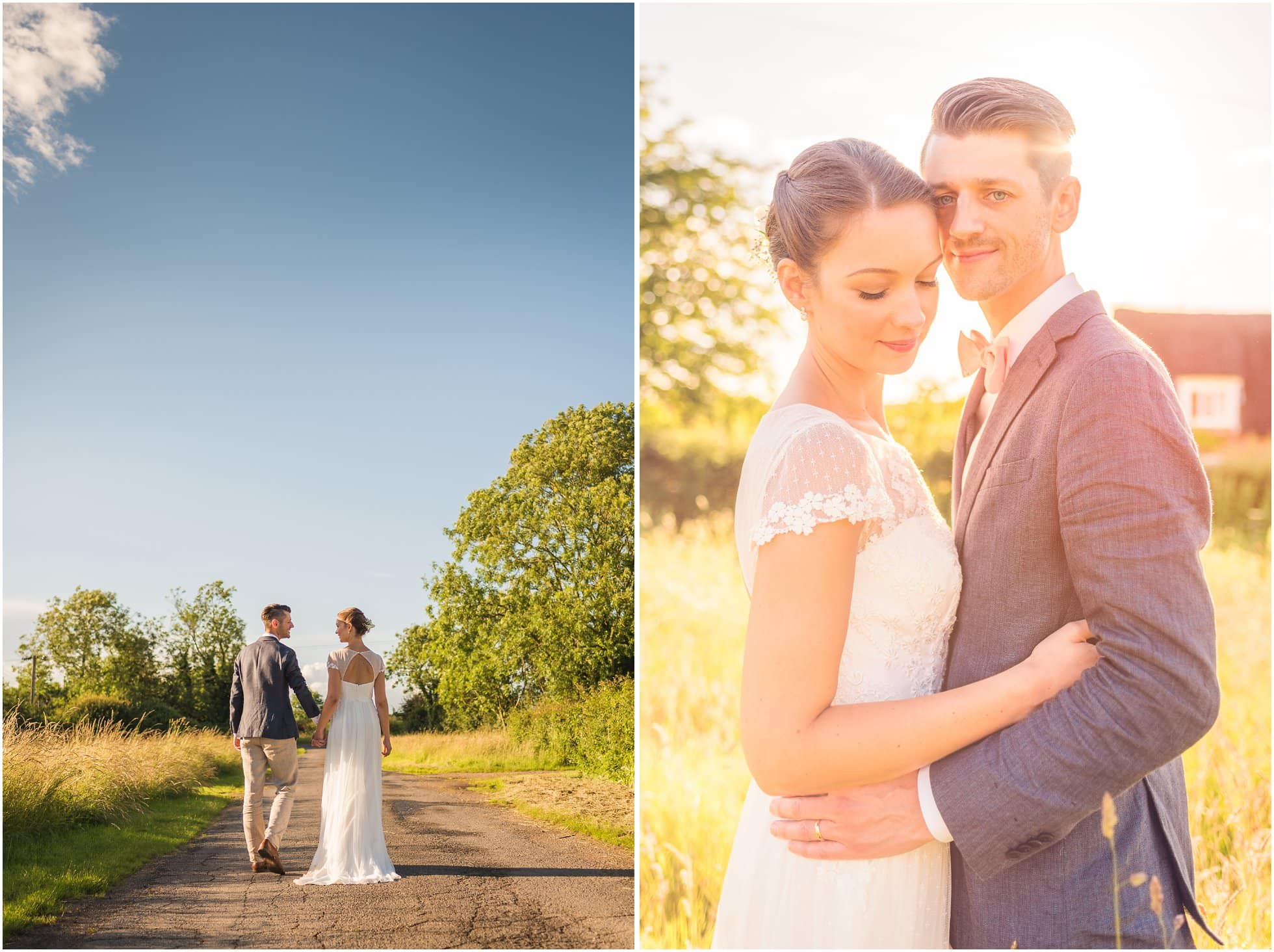 Bride and Groom portraits during a suffolk wedding photographer's dream wedding
