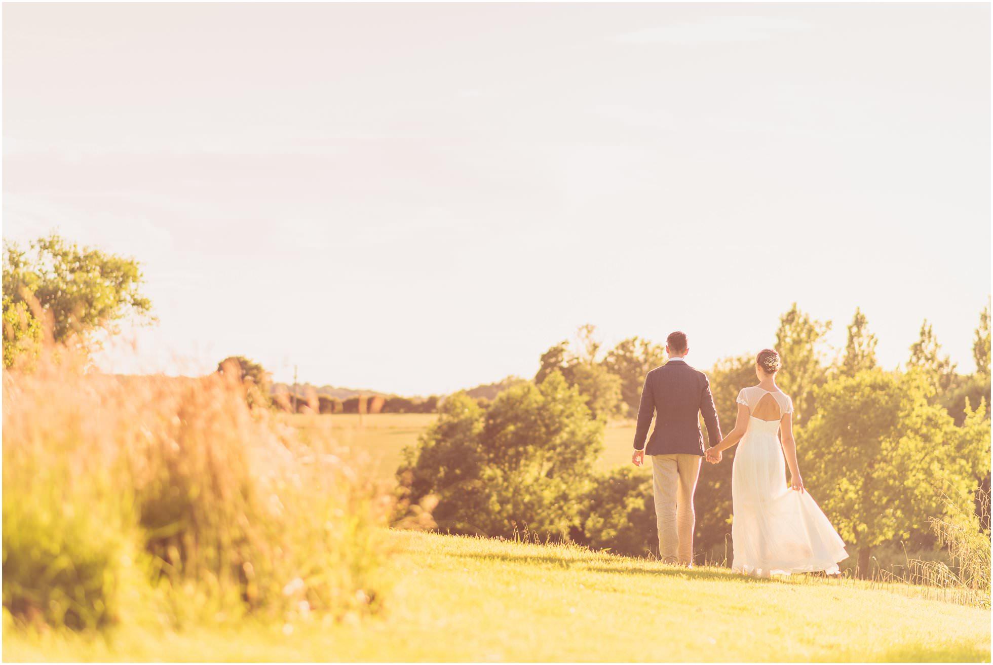 Golden hour wedding portraits in Suffolk