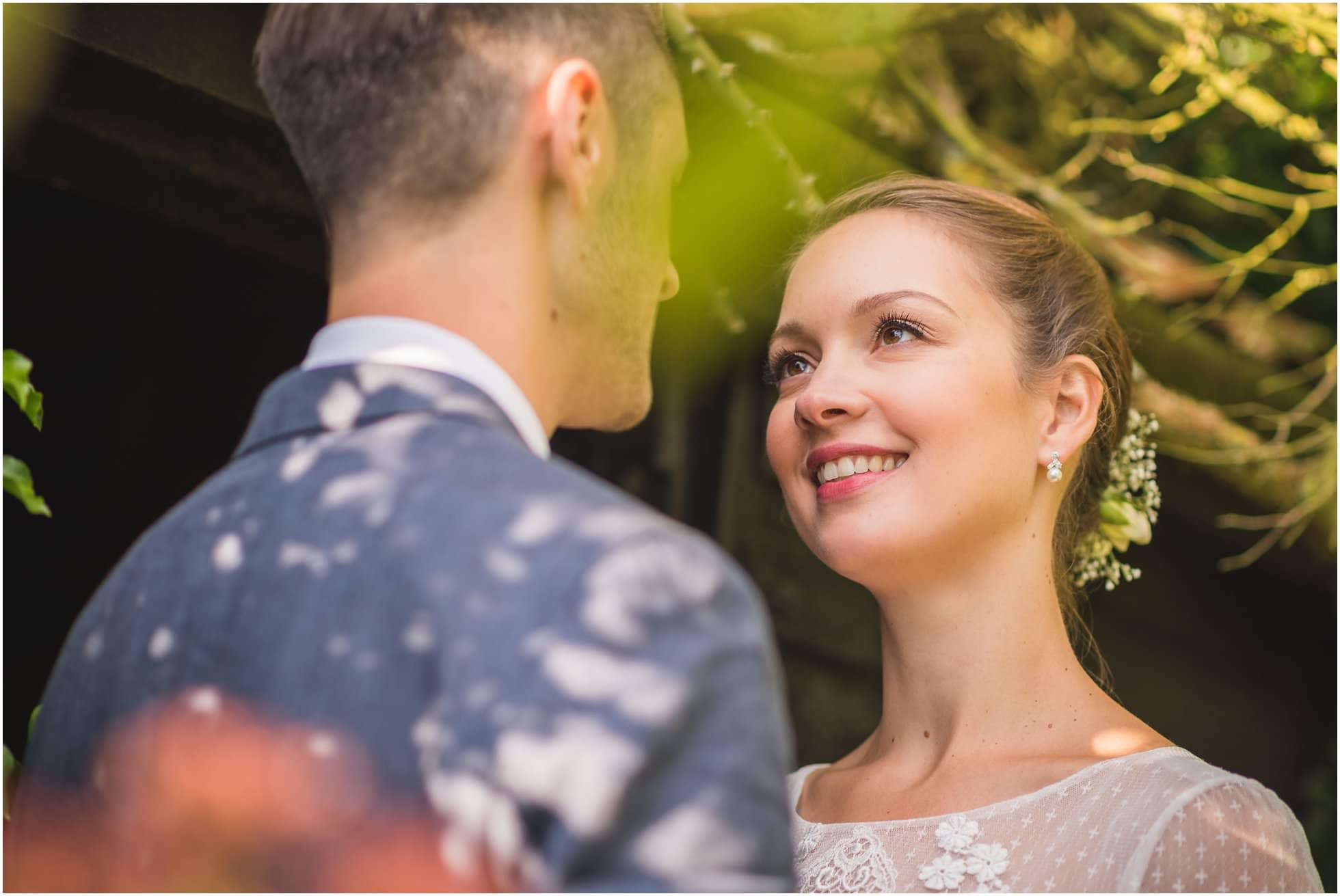 Wedding portrait of gorgeous couple