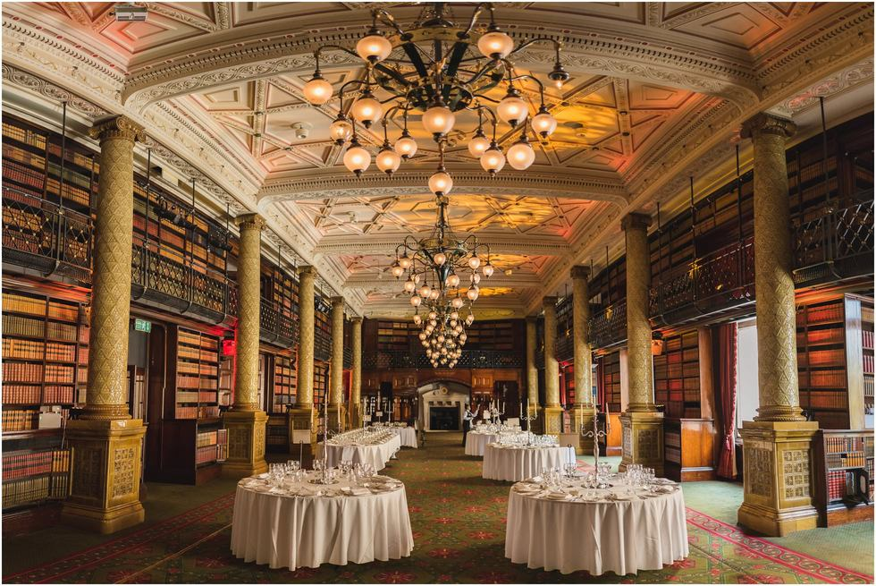 One Whitehall Place Wedding Venue Library Room