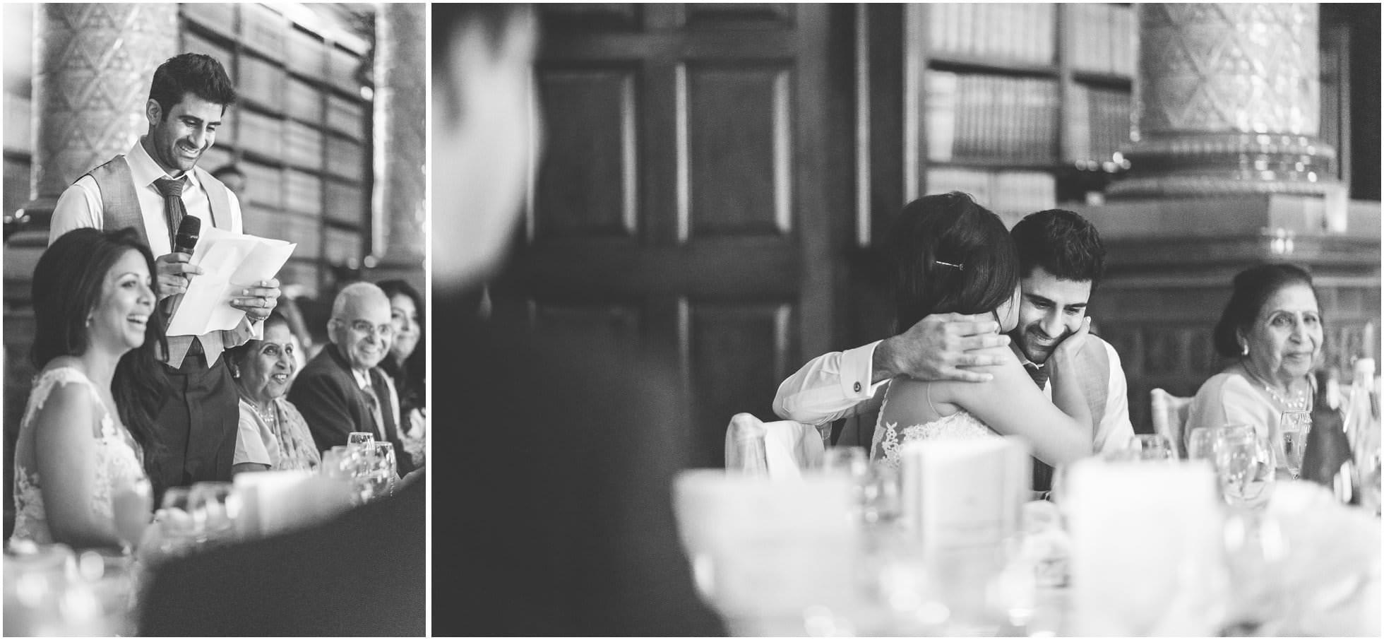 A hug after the groom's speech