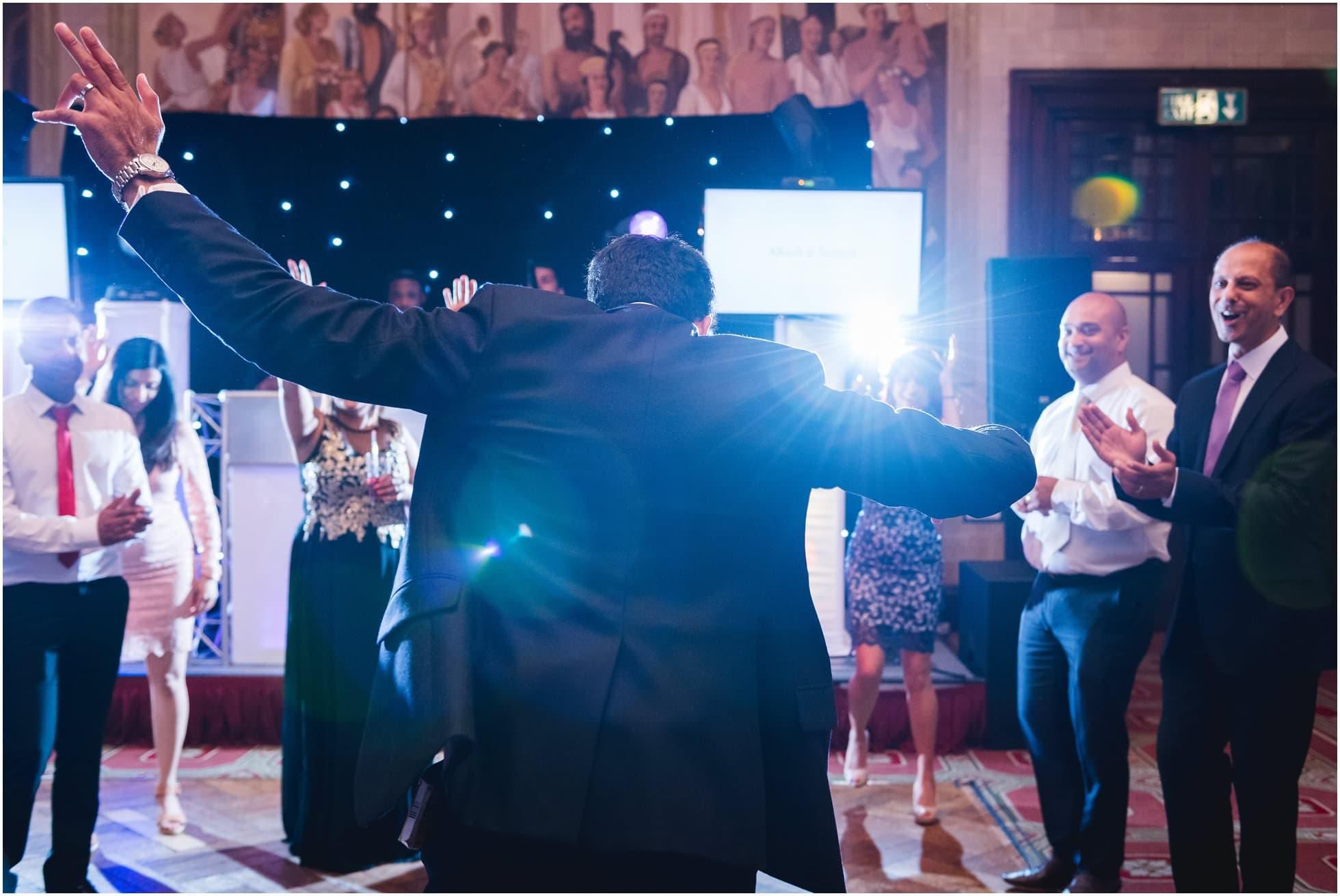 The groom hits the dance floor