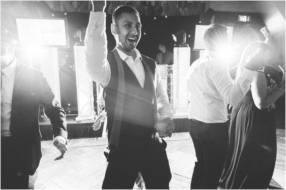 Wedding reception dancefloor fun