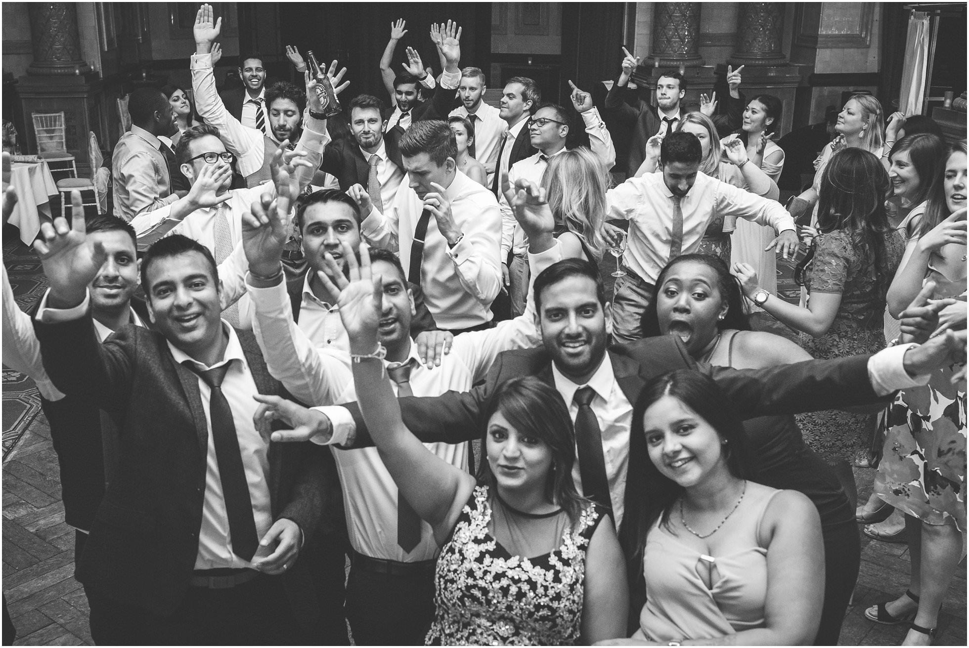 Dancefloor antics at an awesome British-Asian wedding