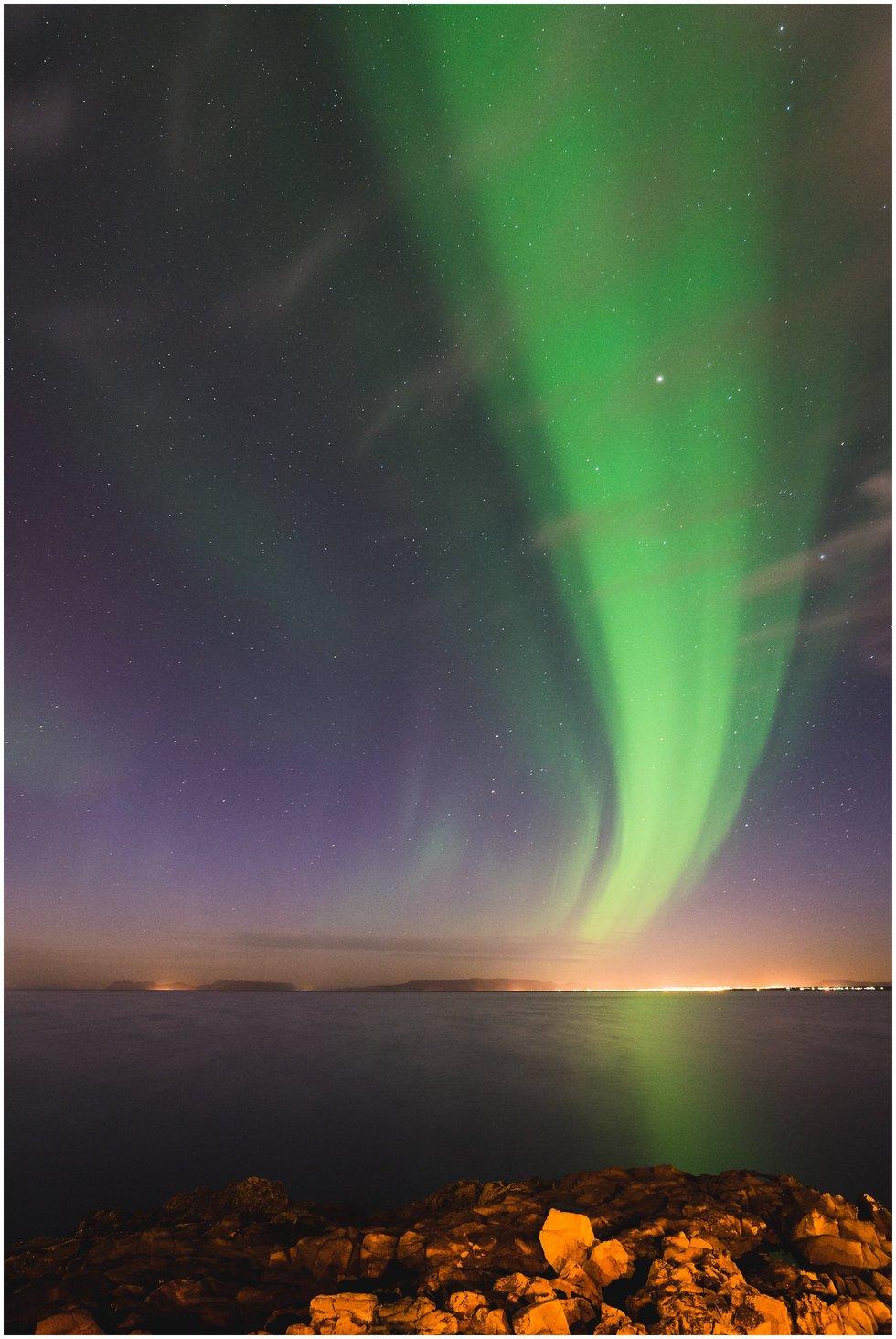 Iceland Wedding Photographer shot of Northern Lights