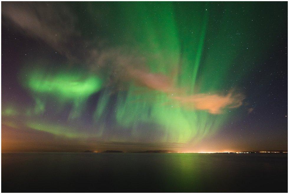 Aurora Borealis in Reykjanesbær