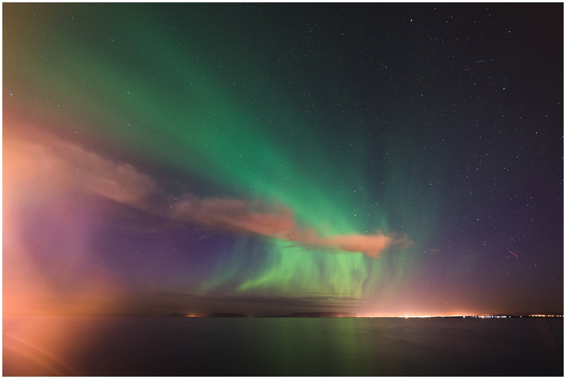Aurora in Iceland photography by Winston Sanders