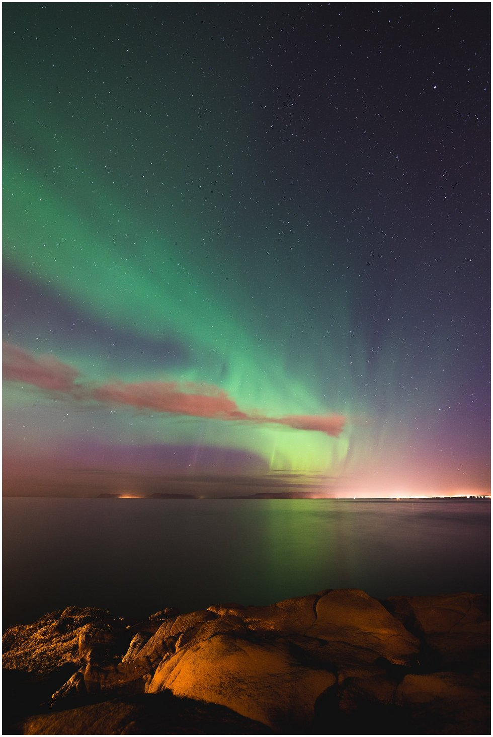 Northern Lights after a wedding in Iceland
