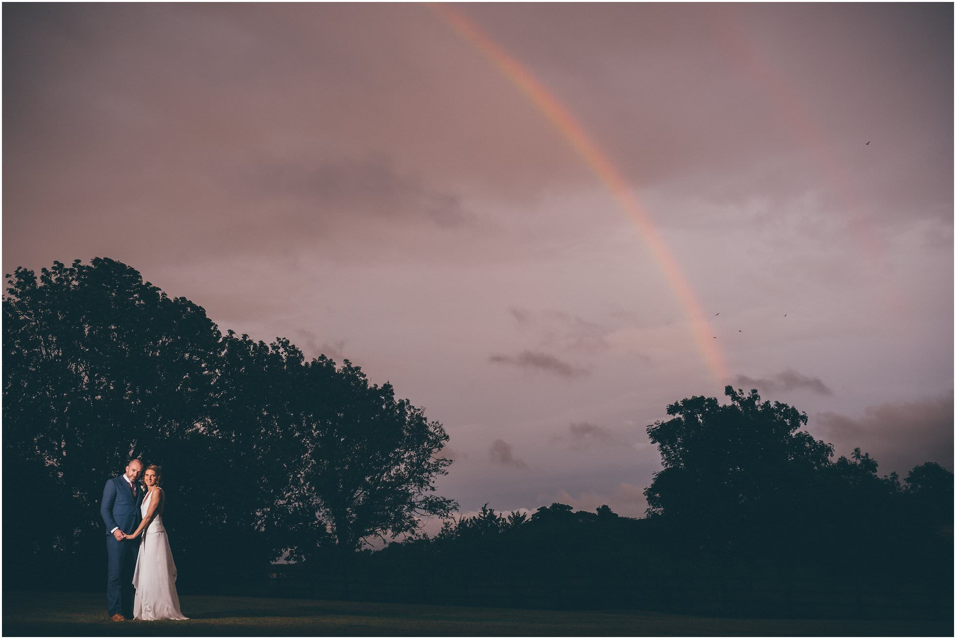 Devon rainbow wedding photograph of the year!
