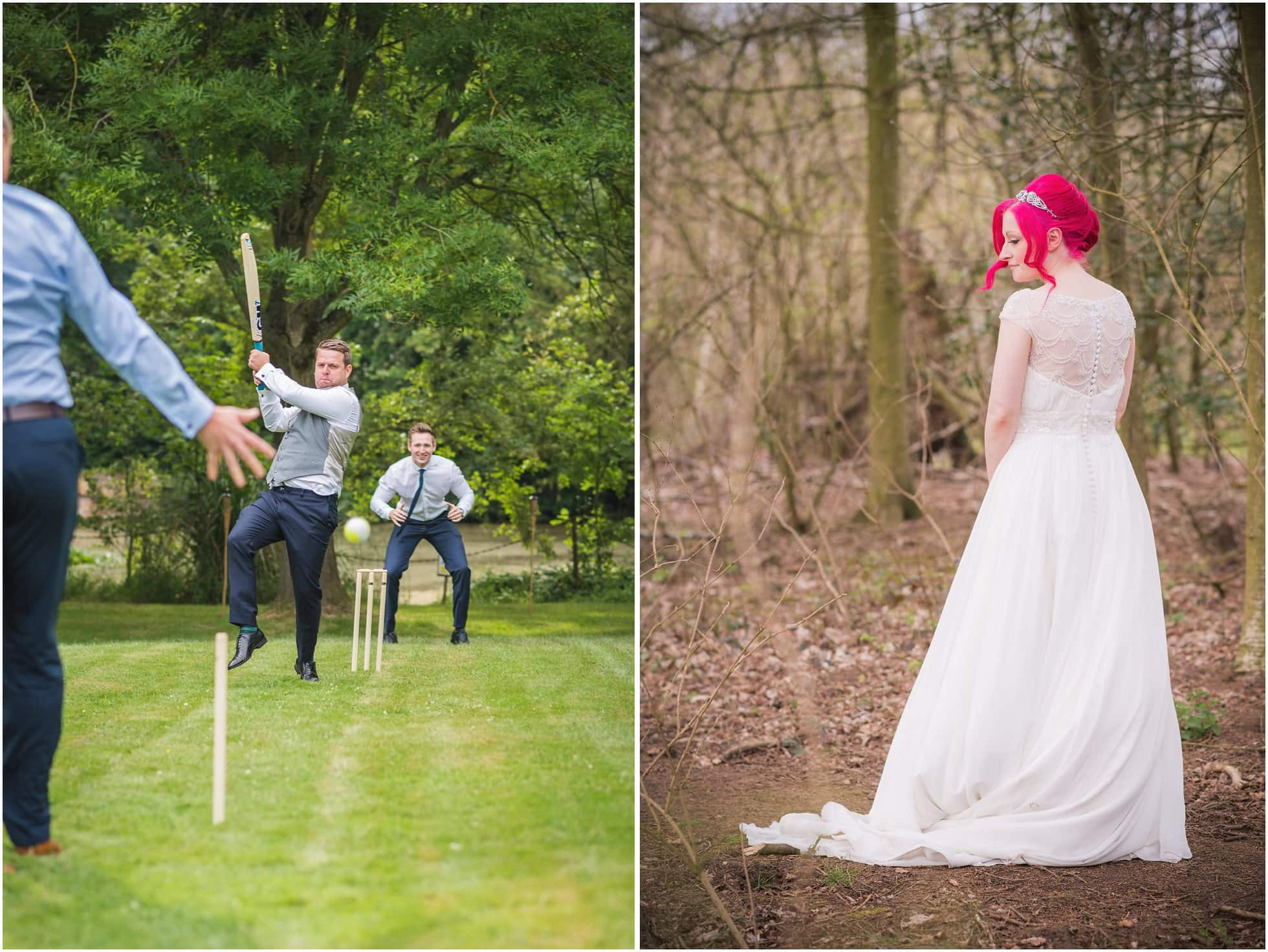 Cricket and a wedding