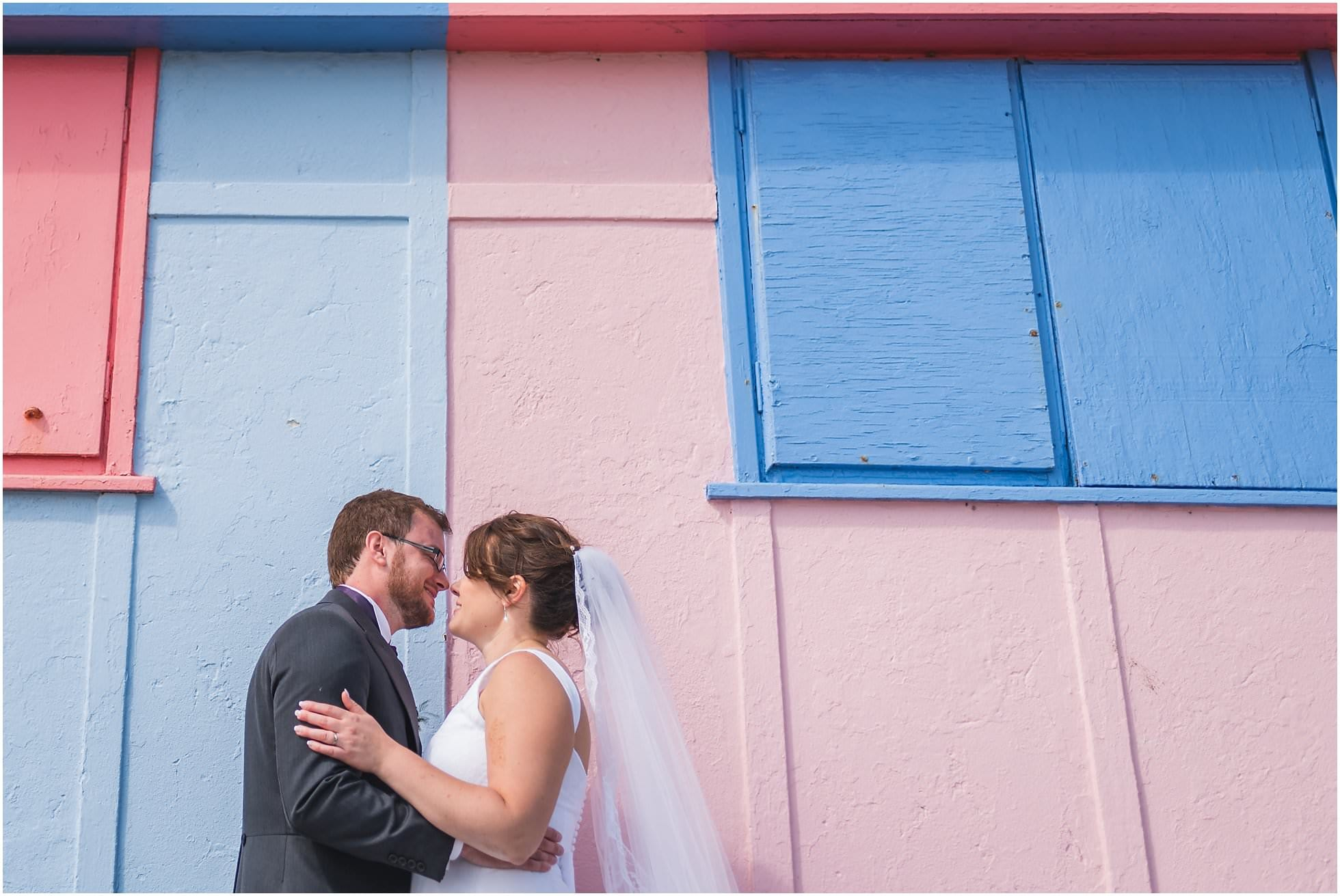 Folkestone Wedding Photography at beach huts