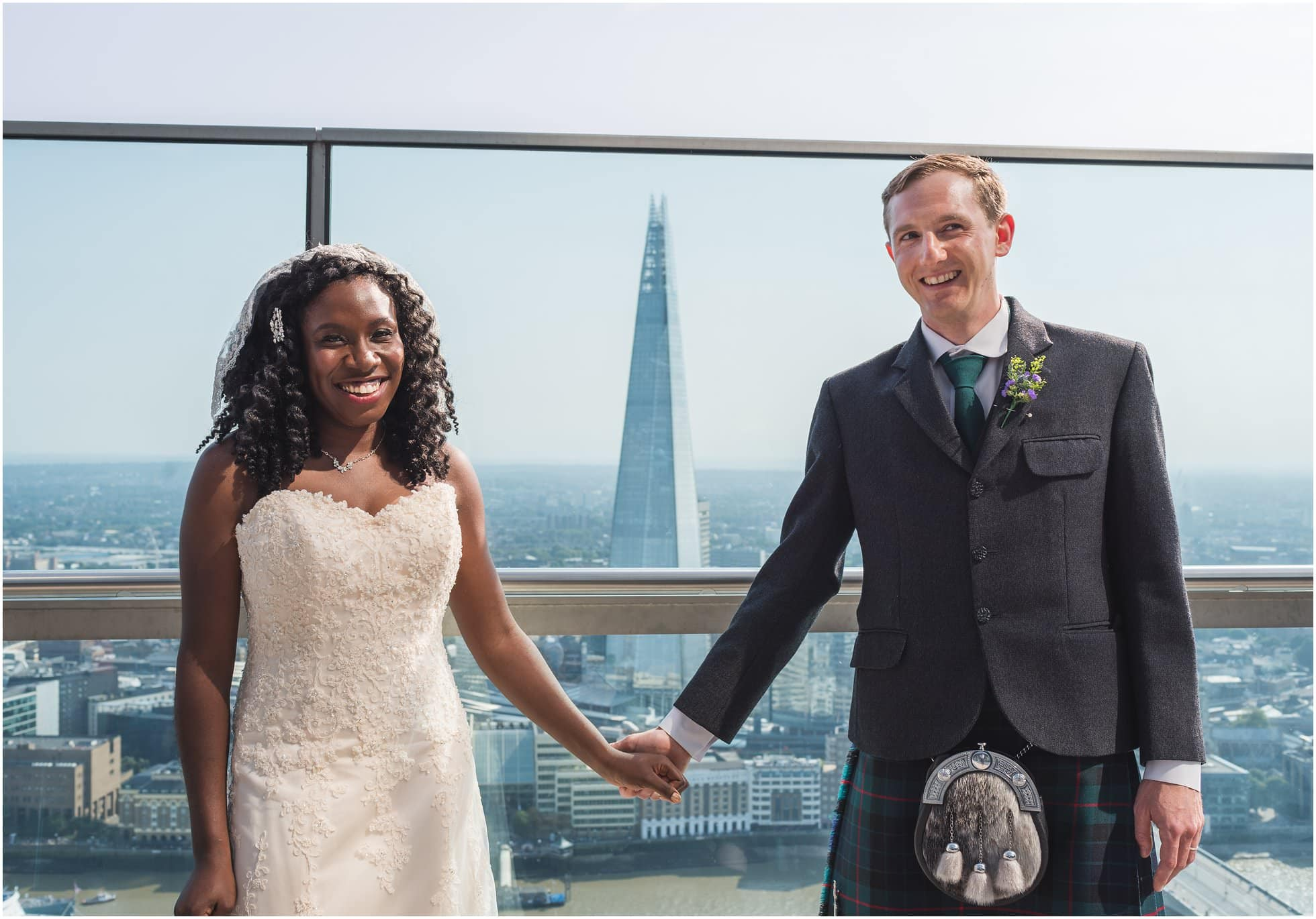 The Shard from the Sky Garden by London Wedding Photographer