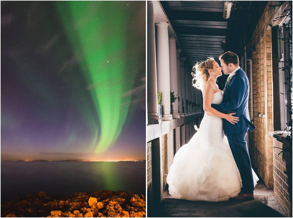 Aurora on a wedding day
