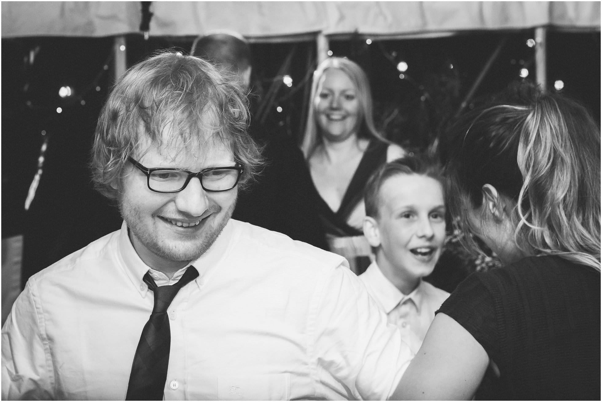 Ed Sheeran dancing the ceilidh at a North Yorkshire wedding