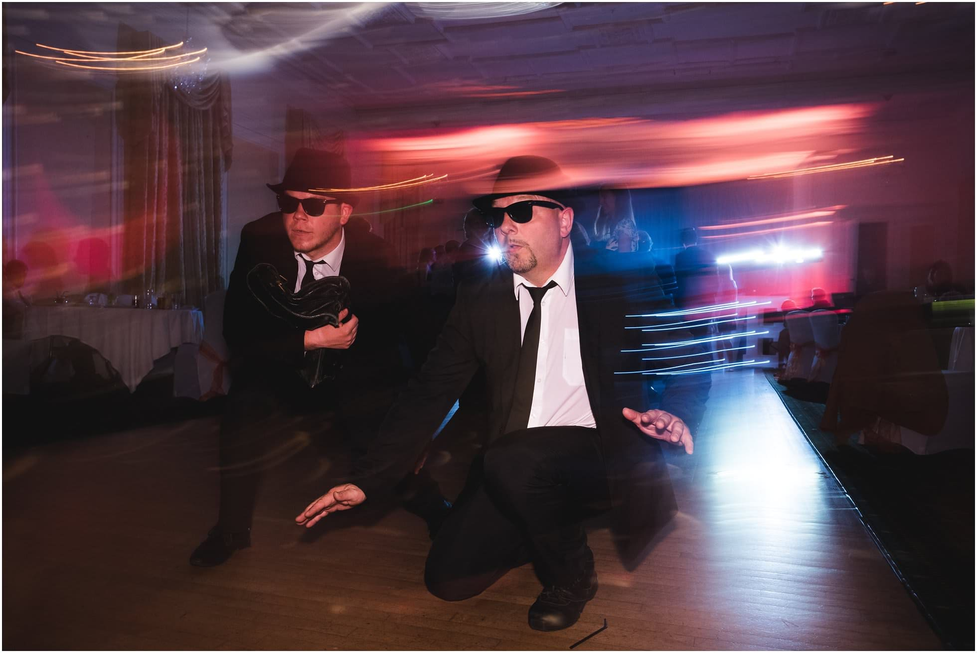 The Blues Brothers sneaking out of this Harrogate Wedding