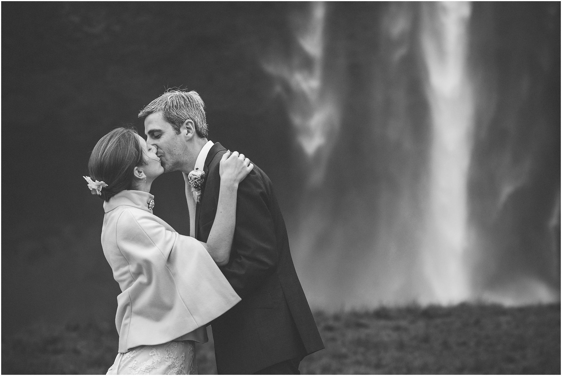 First kiss in front of Seljalandsfoss