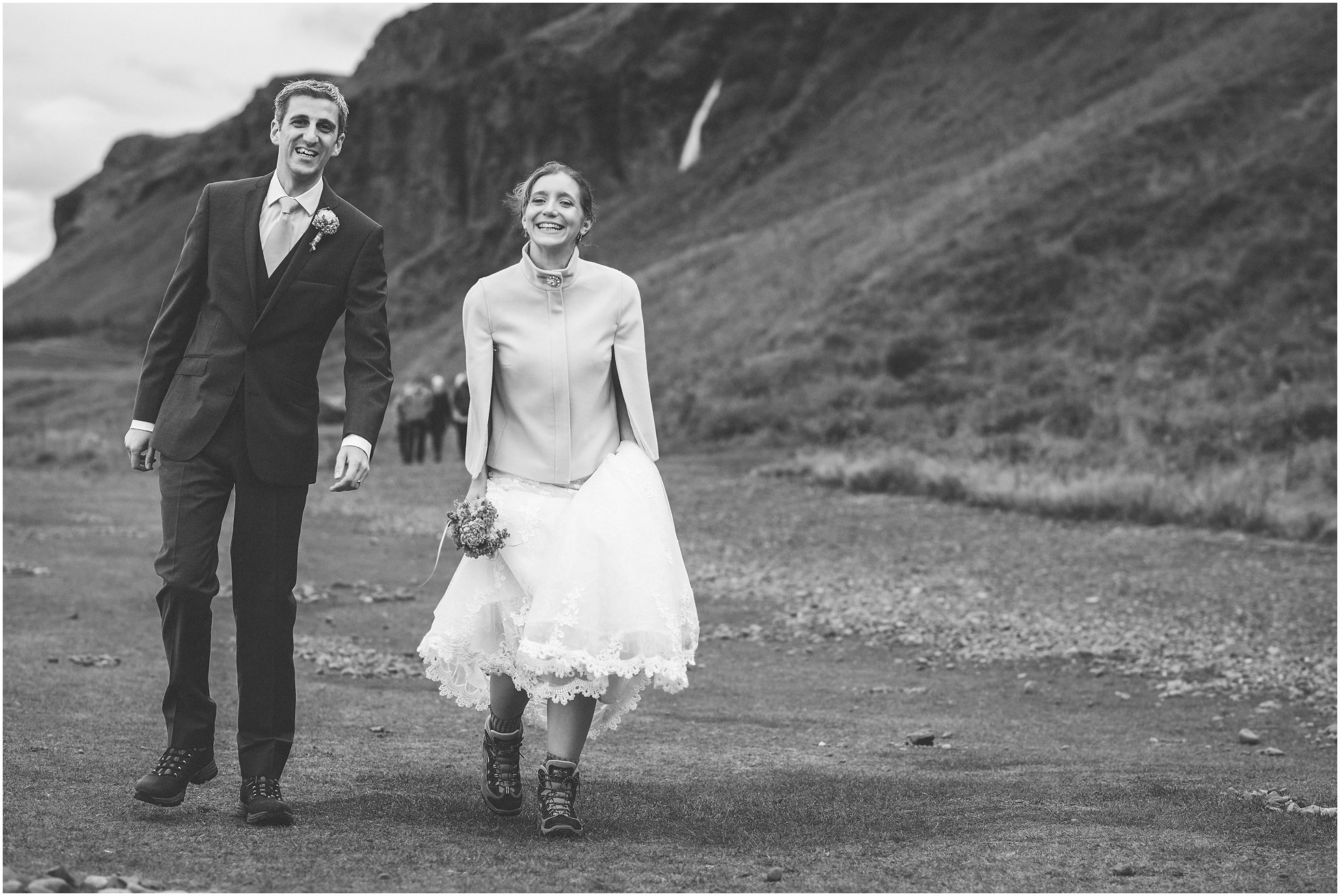 Bride and groom over the moon!