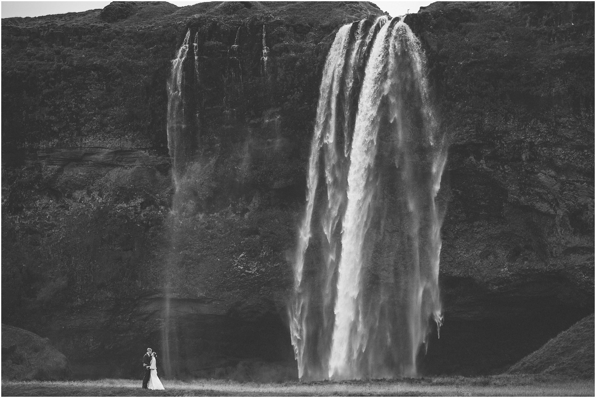Epic Iceland Wedding Photographer Elopement shot at Seljalandsfoss