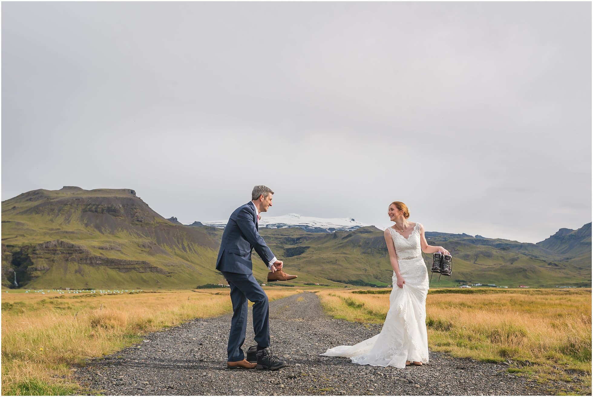 Relaxed iceland wedding photography